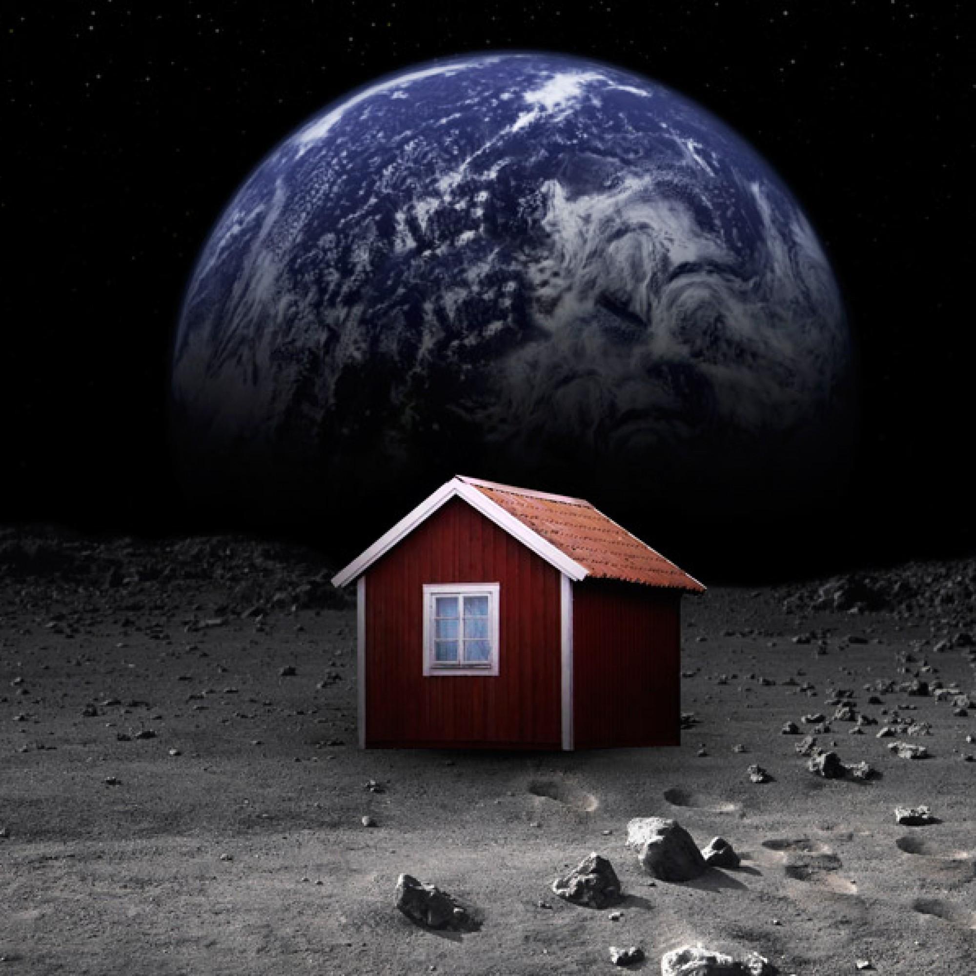 Einsamer Standort: So stellt sich Mikael Genberg seine Stuga auf dem Mond vor. (pd)