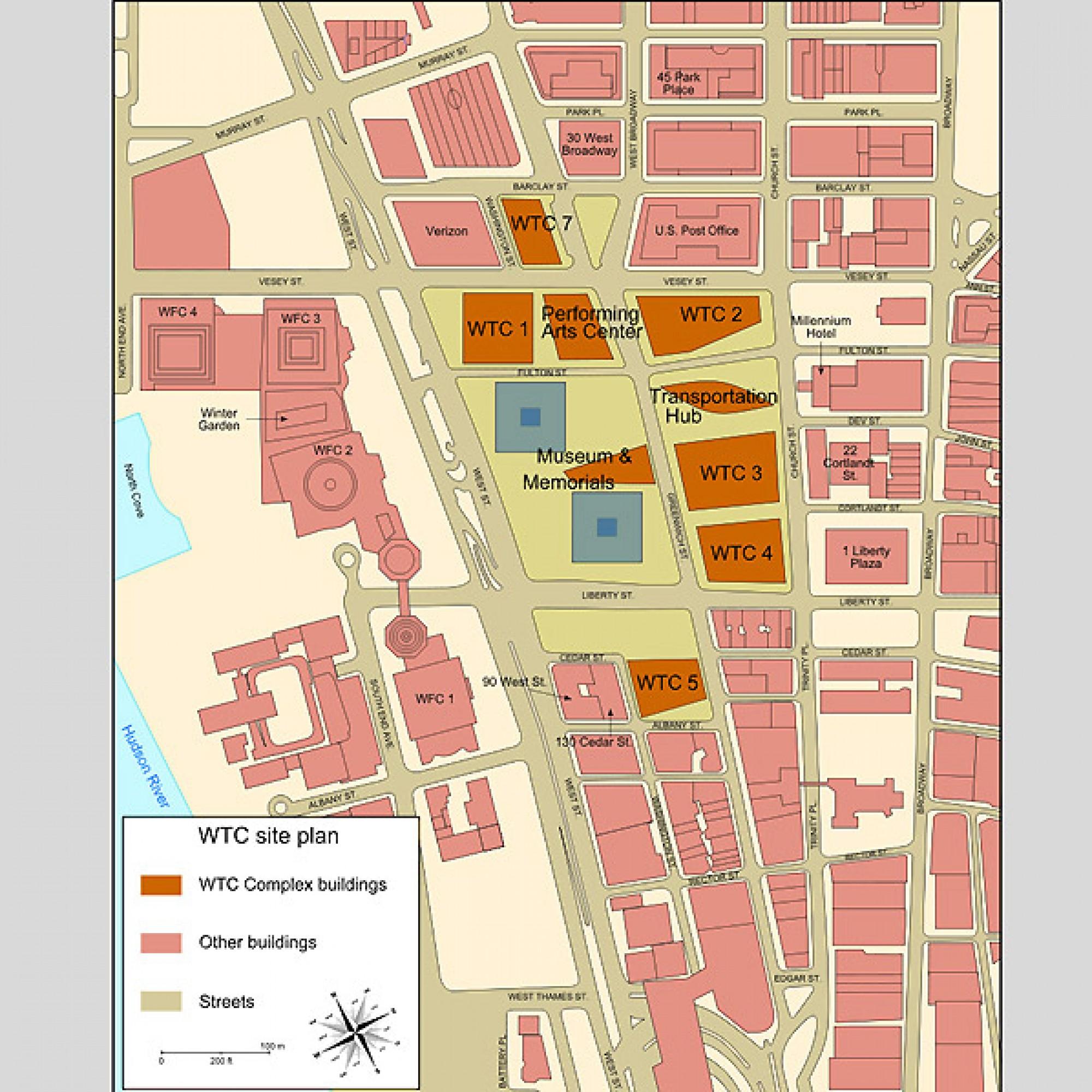 Der Plan der Komplexes, zu dem auch 1WTC gehört. (Messer Woland,Wikimedia, CC)