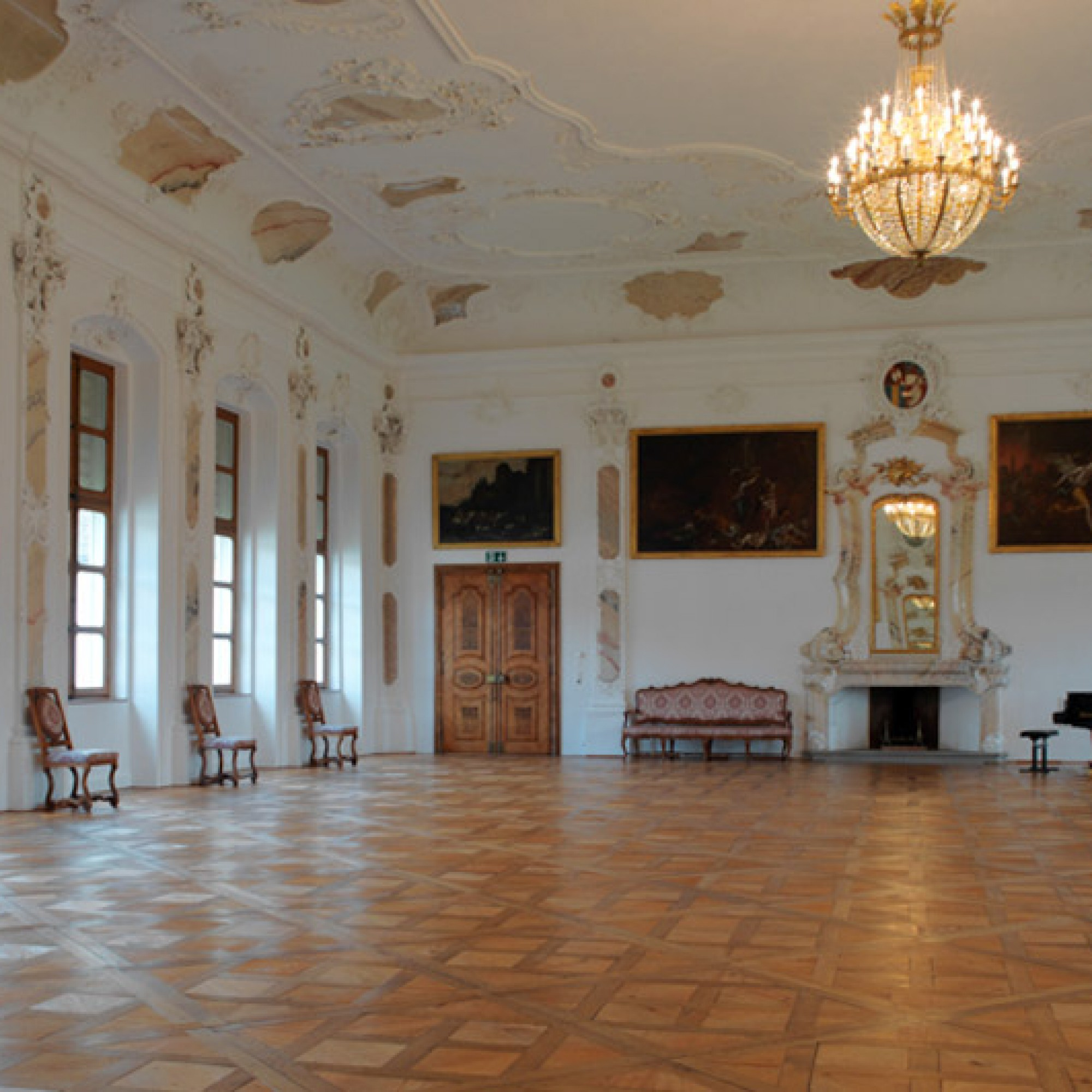 Barocke Pracht im Festsaal des Klosters. (Margherita Delussu, Luzern)