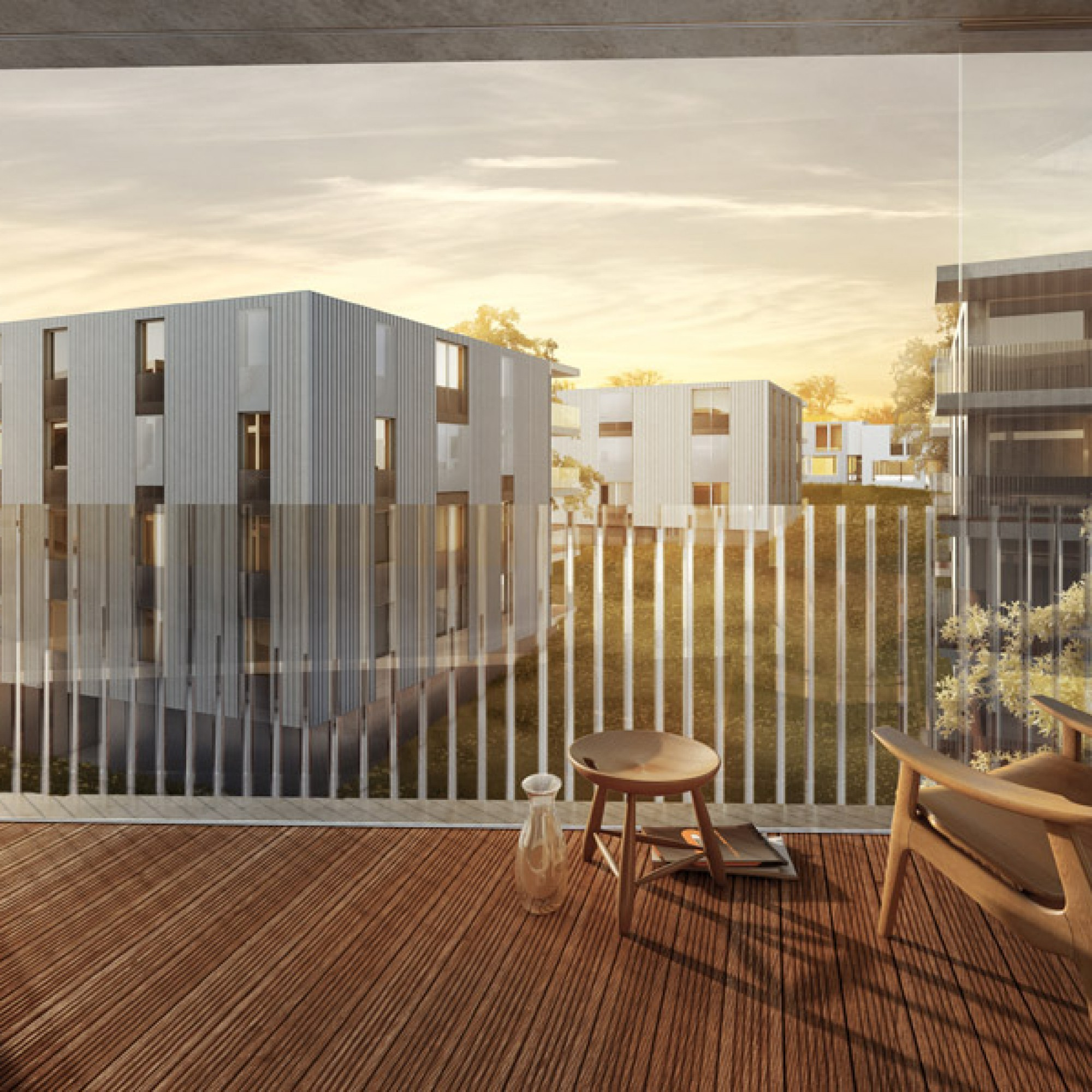 ...und so von einem Balkon im Innern der Siedlung. (PD/Studio 12)
