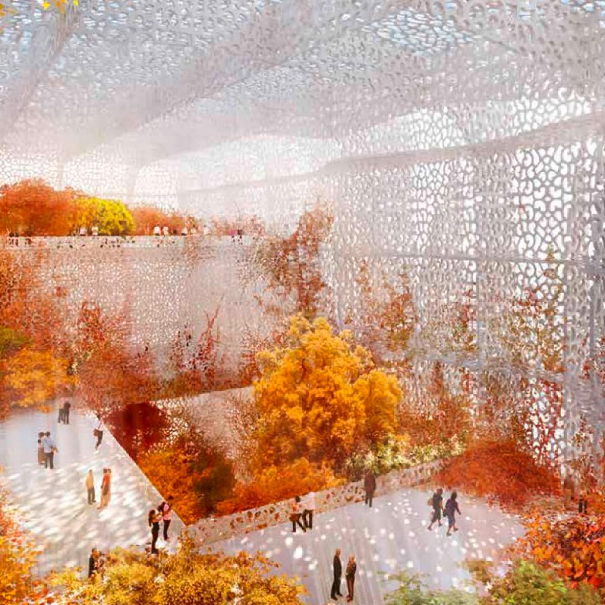 Herbststimmung im Garten des Museums.  (Visualisierung zvg)