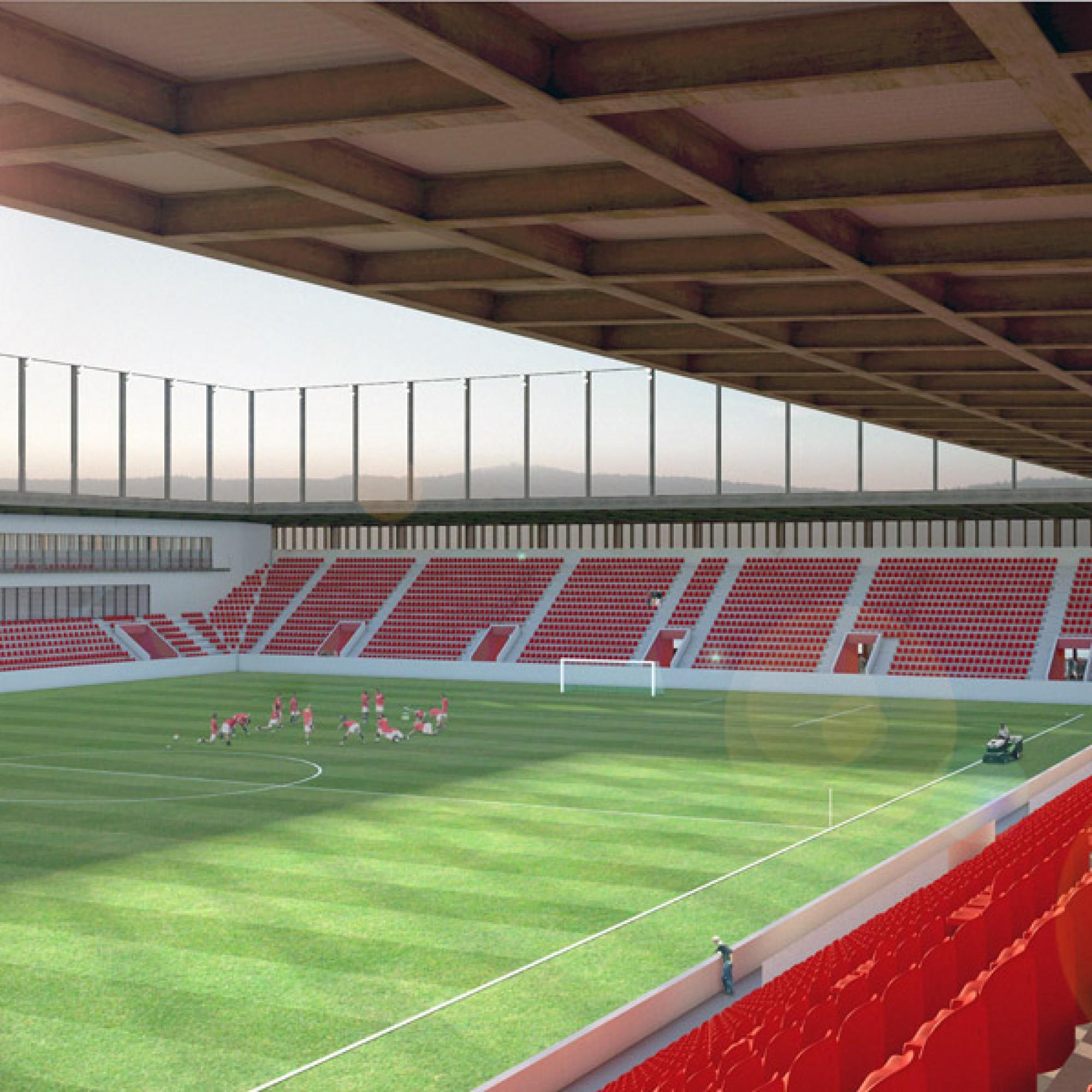 Bis der FC Aarau im neuen Stadion spielen kann wird es noch dauern. (zvg)