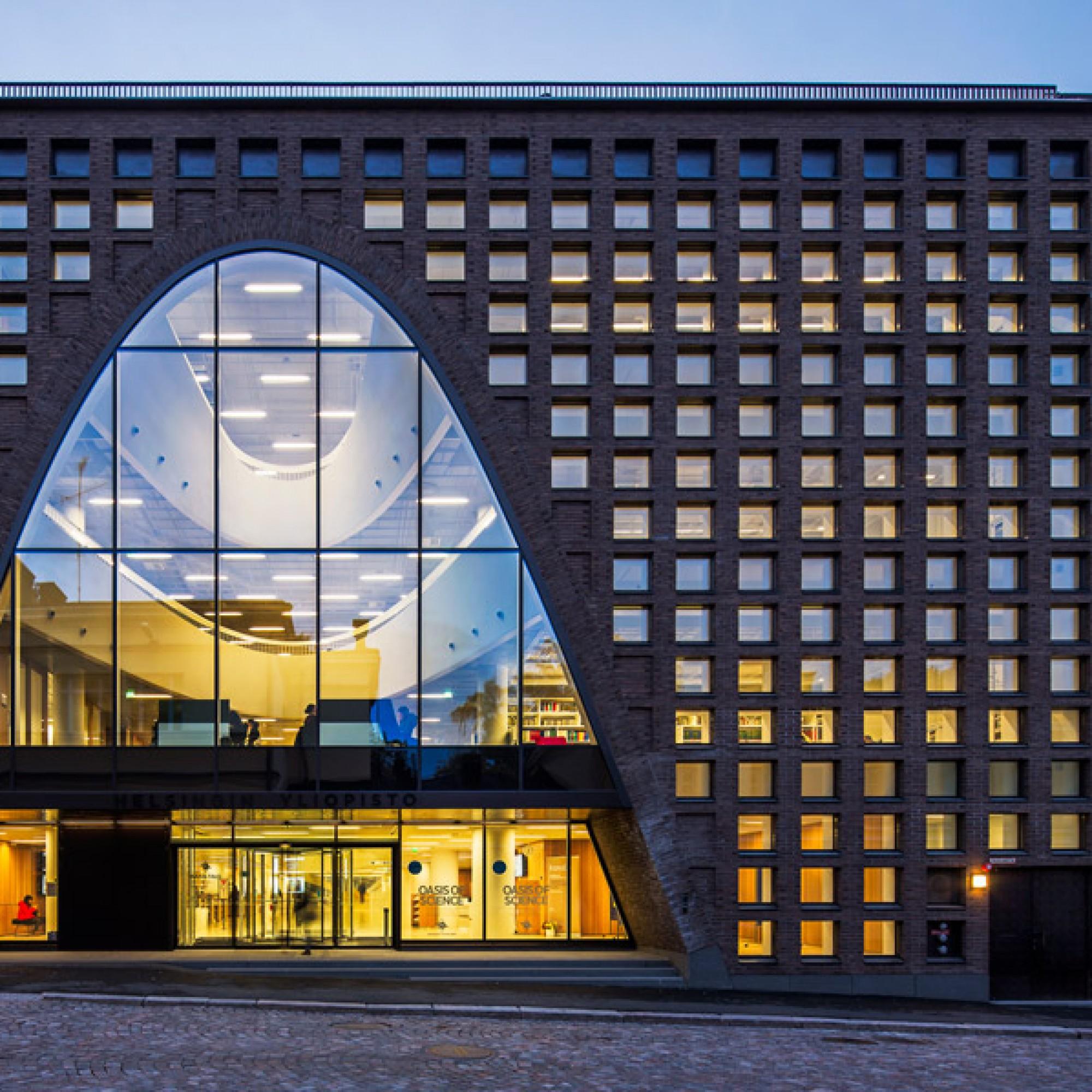 Kaisa Haus, Universitätsbibliothek, Helsinki / Antinnen Oiva Architects Ltd. (Foto: Mika Huisman)
