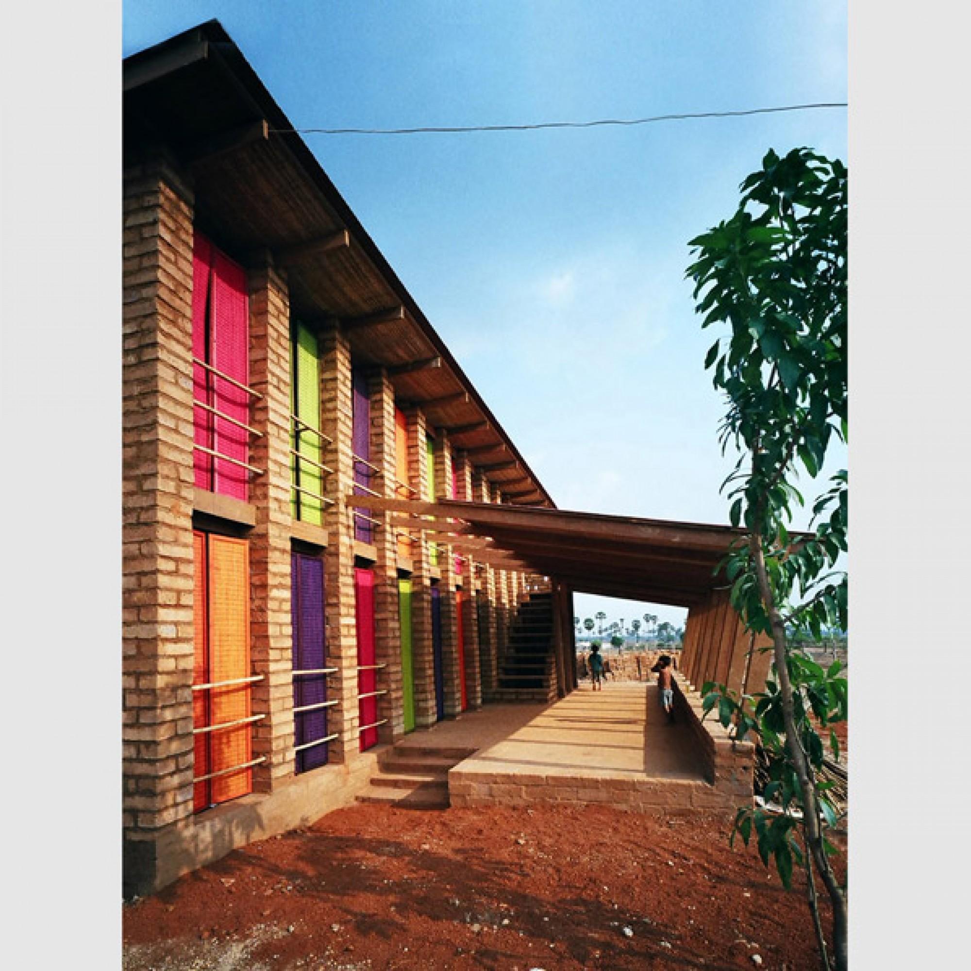 Sra Pou Schule, Sra Pou, Kambodscha / Architects Rudanko + Kankkunen Ltd. (Foto: Anssi Kankkunen)