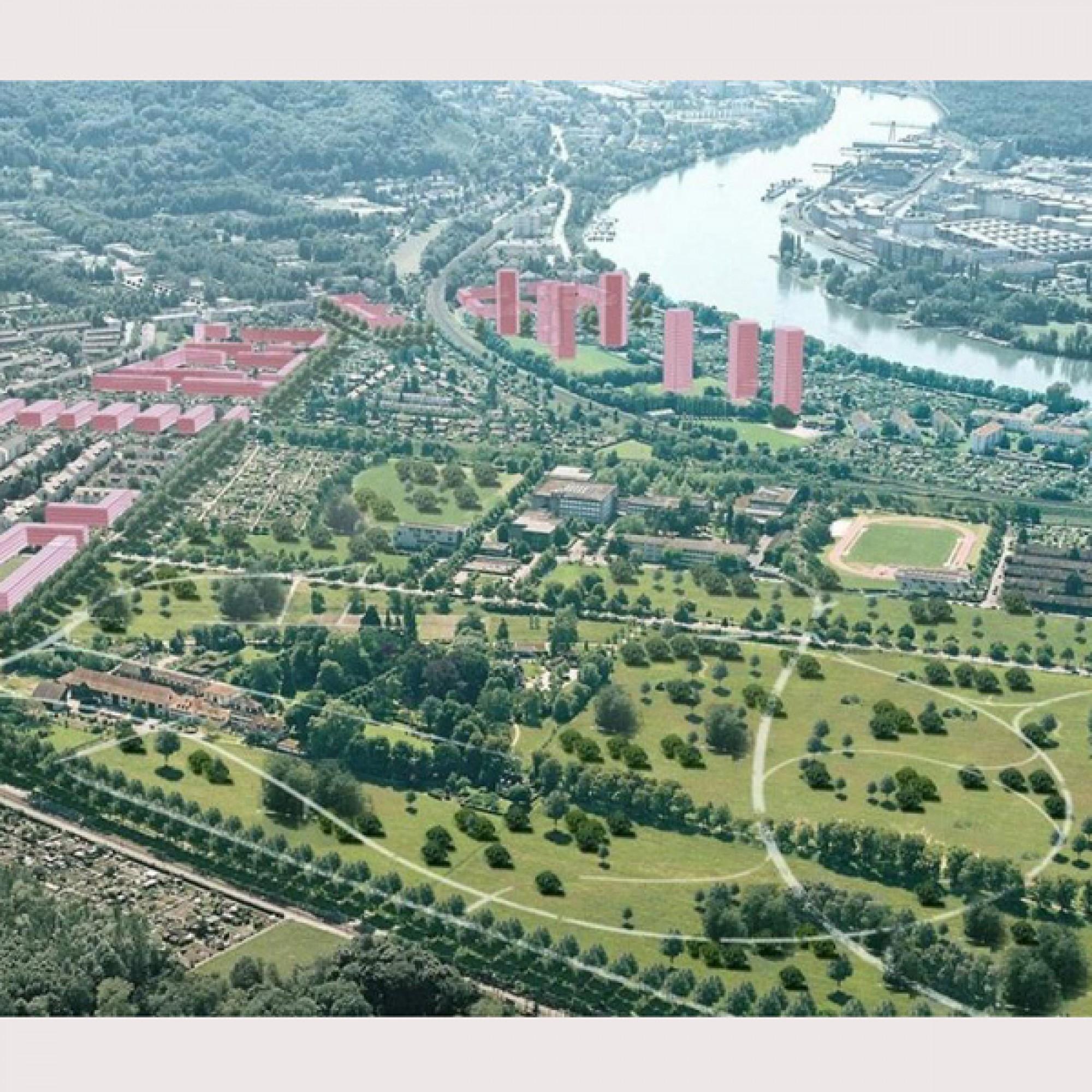 Die abgelehnte Stadtentwicklung Ost (rechts) und Süd (BVD)