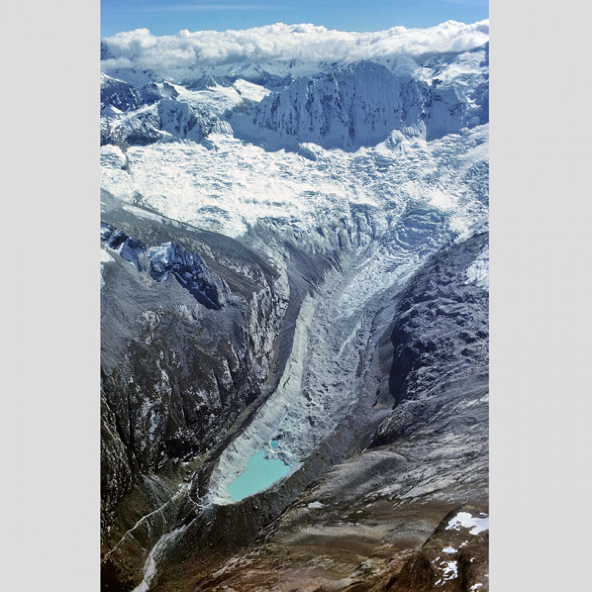 Okshapalca-Gletscher, Peru. (Jürg Alean / Gletschergarten)