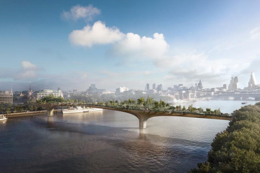 Die geplante Gartenbrücke, Visualisierungen (zvg)
