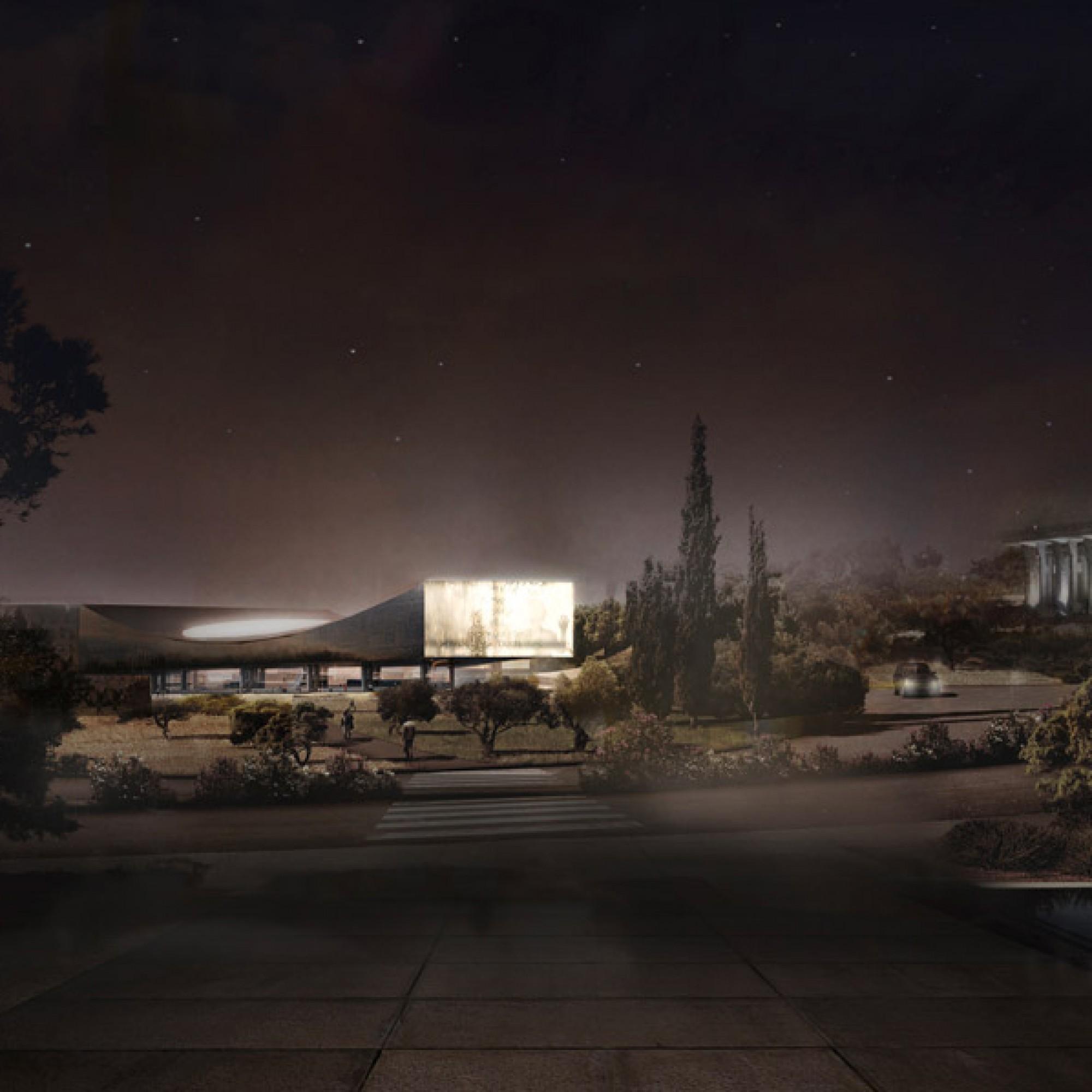 Die Bibliothek bei Nacht. (zvg)