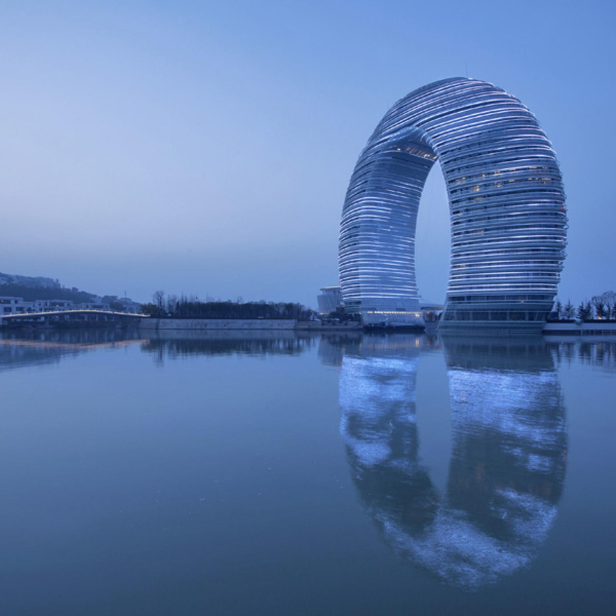 Sheraton Huzhou Hot Spring Resort, Huzhou, China (MAD Architects, XiaZhi)