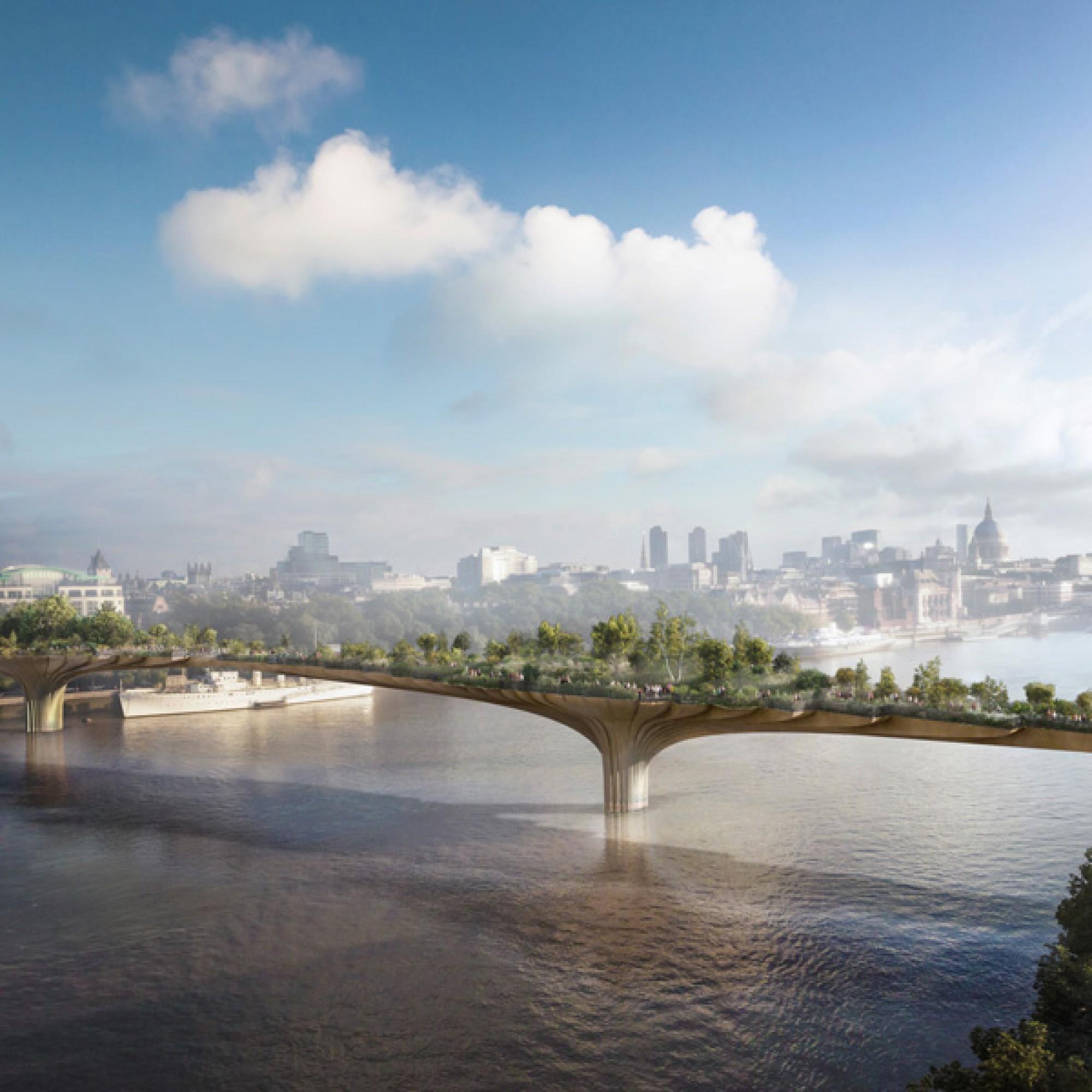 Die geplante Gartenbrücke, Visualisierung (zvg)