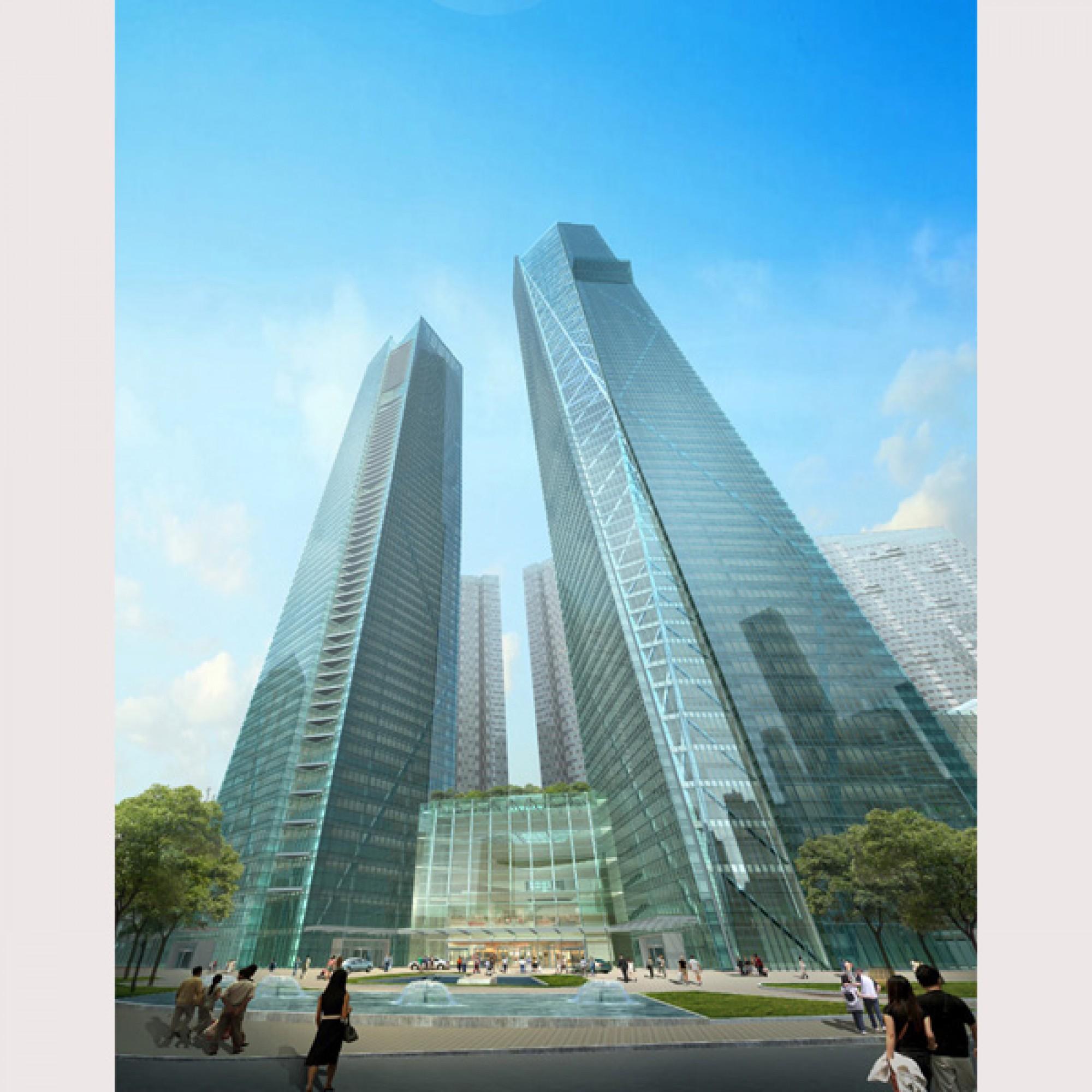 Eton Place Dalian Tower 1, Dalian, China (NBBJ via CTBUH)