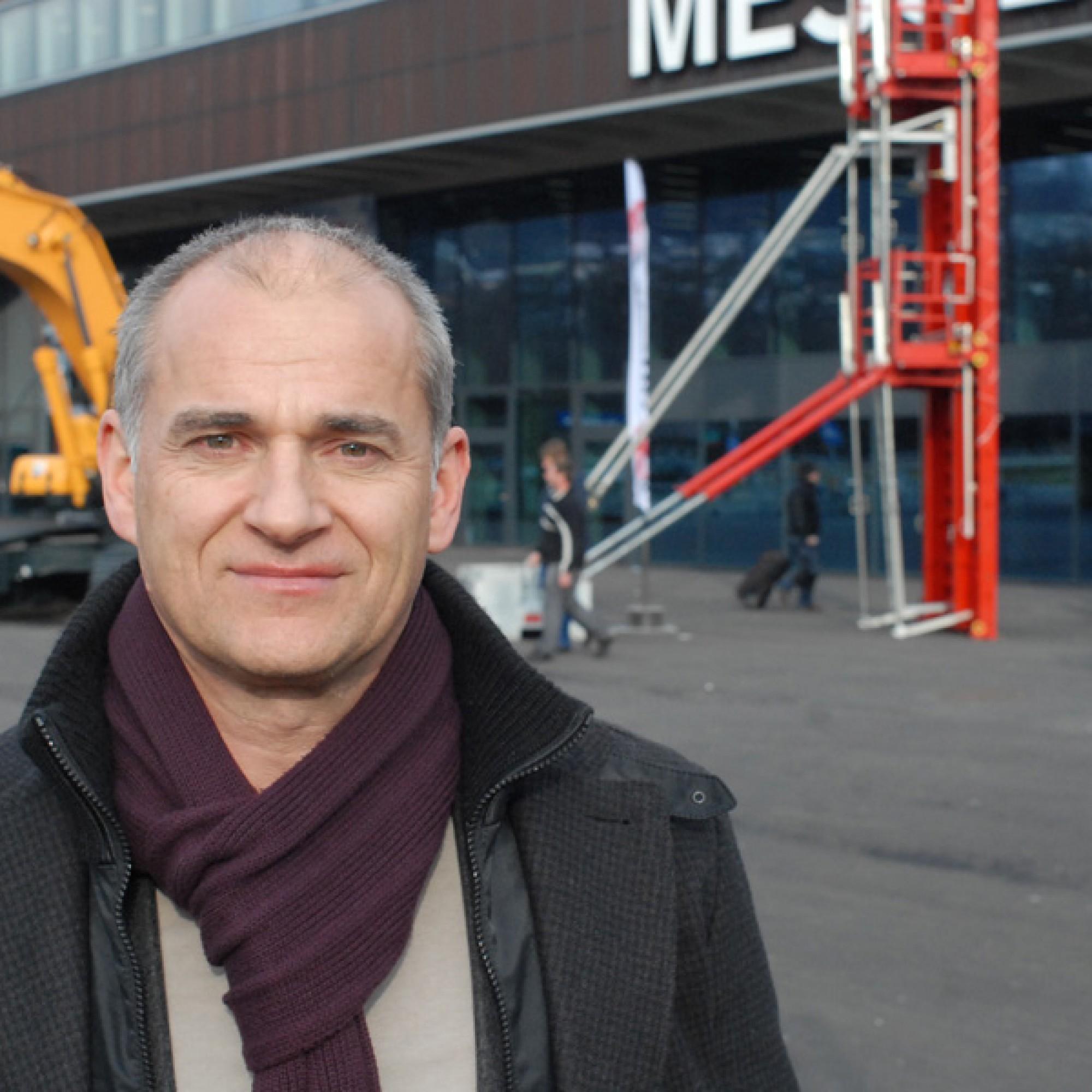 Messeleiter Andreas Hauenstein ist mit dem Verlauf der diesjährigen Baumaschinen-Messe Baumag in Luzern rundum zufrieden. (Bild: Stefan Breitenmoser)