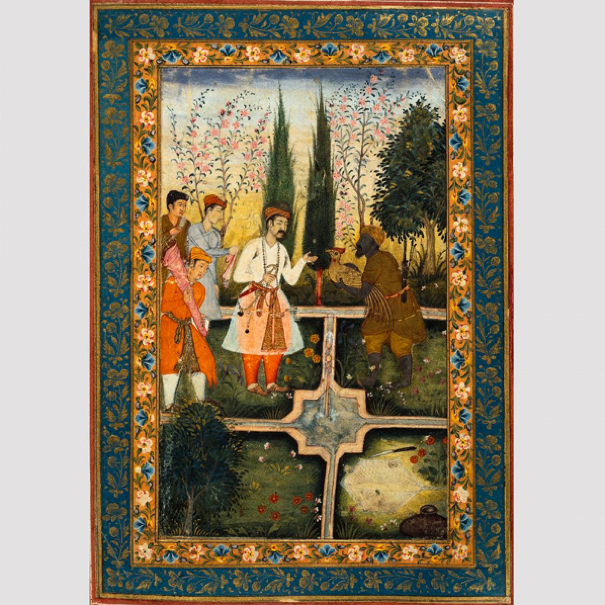 Die Moghulminiatur zeigt einen klassischen persischen Garten. (zvg)