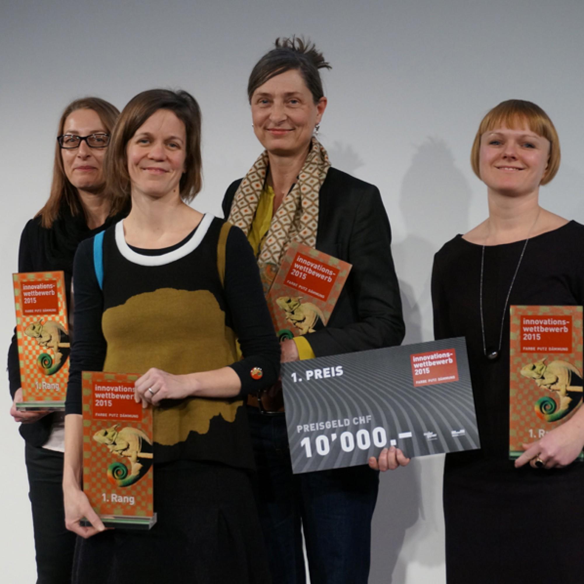Mit Frauenpower zum Erfolg: die Siegerinnen des Innovationswettbewerbs. (Gabriel Diezi)
