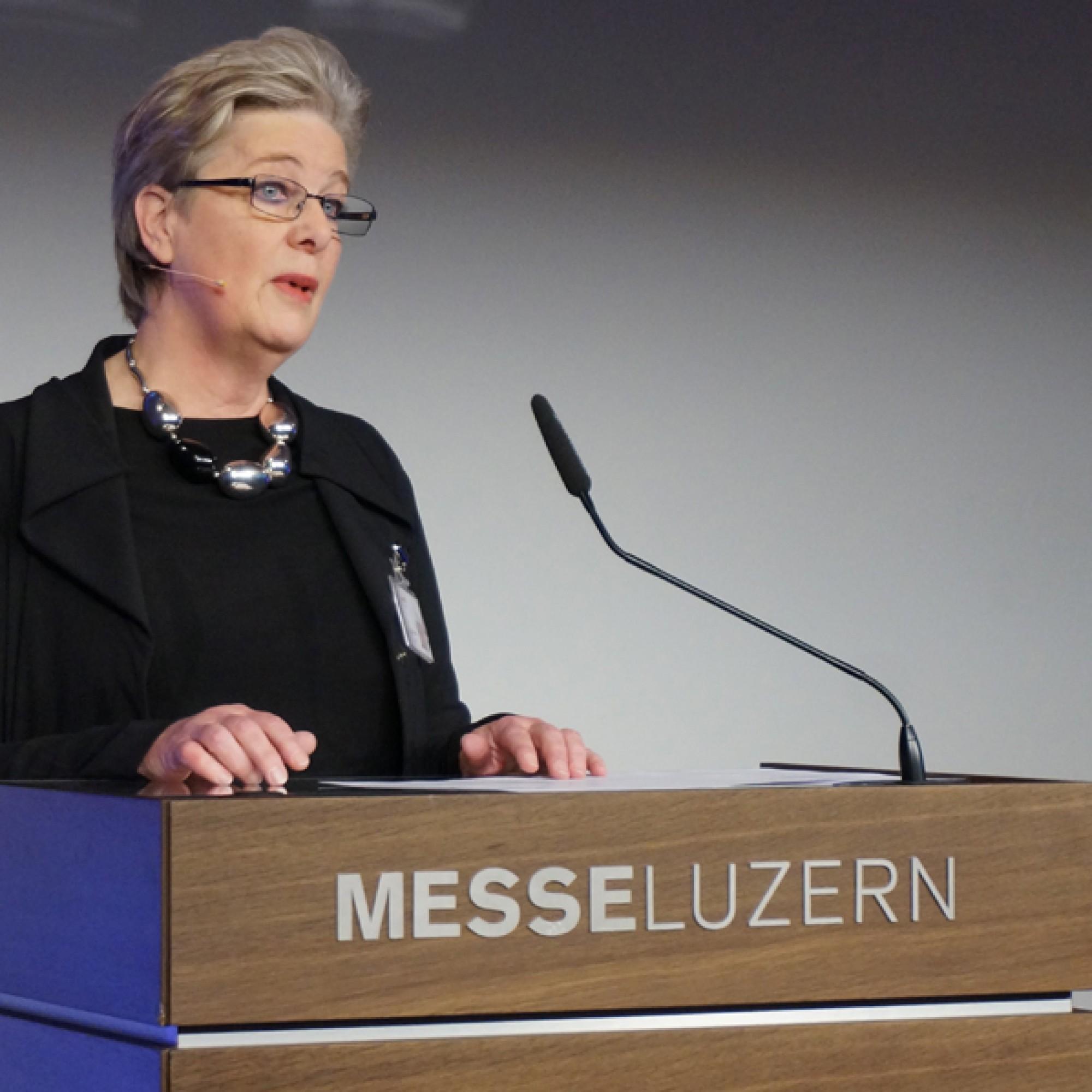 Ursula Gerber, Messeleiterin appli-tech bei der Messe Luzern AG. (Gabriel Diezi)