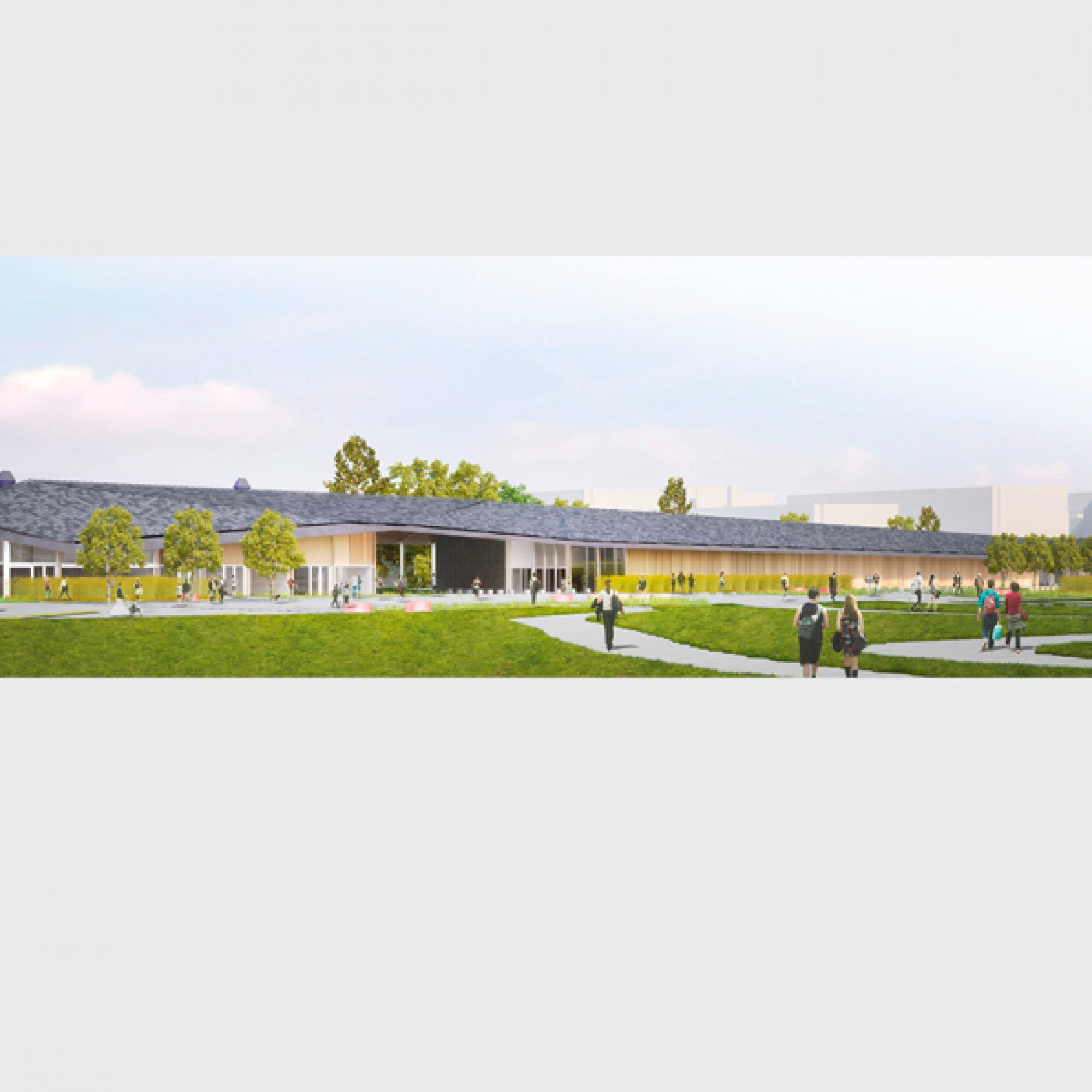 Zum Pavillon gehören Grünflächen, ... (EPFL)