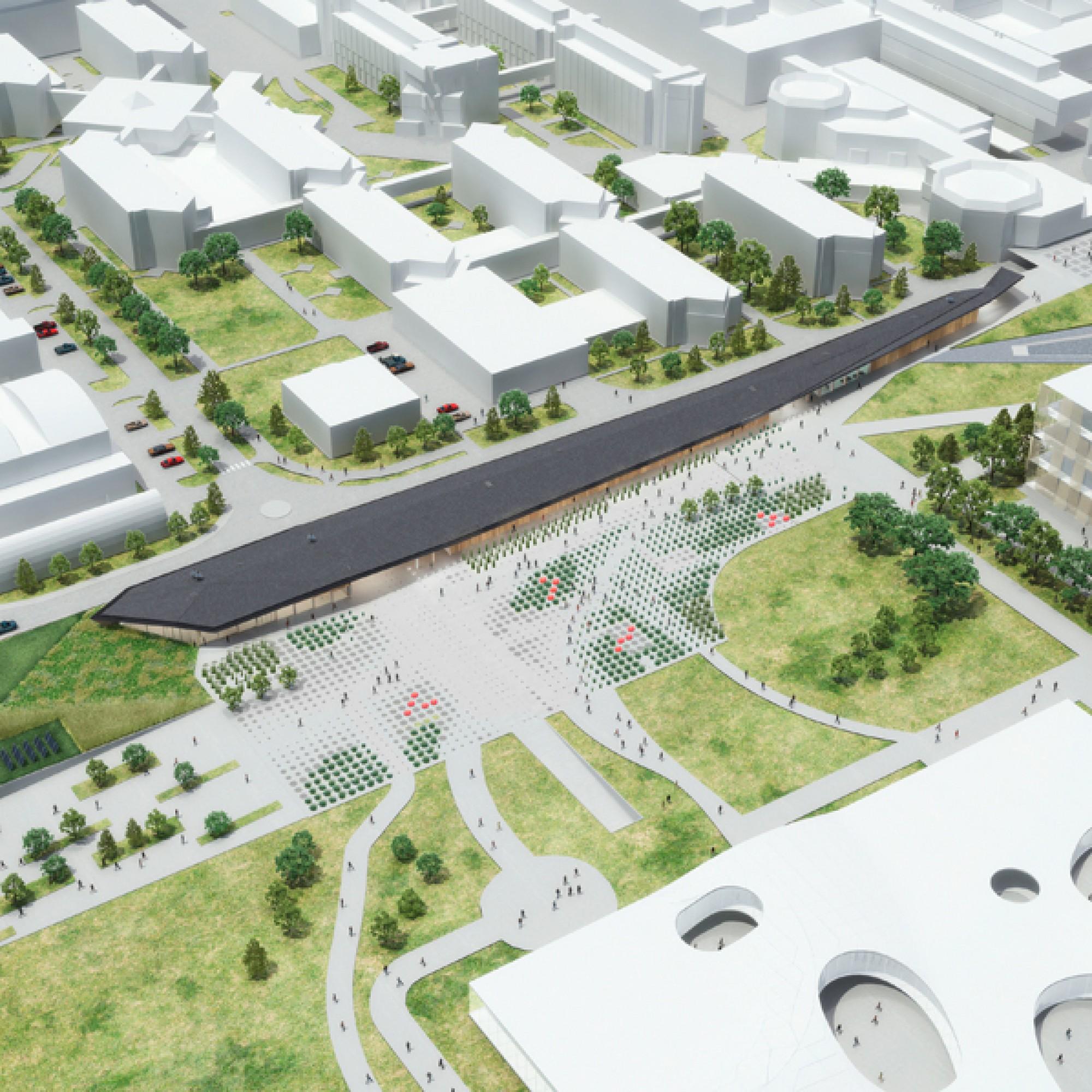 Unübersehbar: der neue Pavillon von Kengo Kuma. (EPFL)