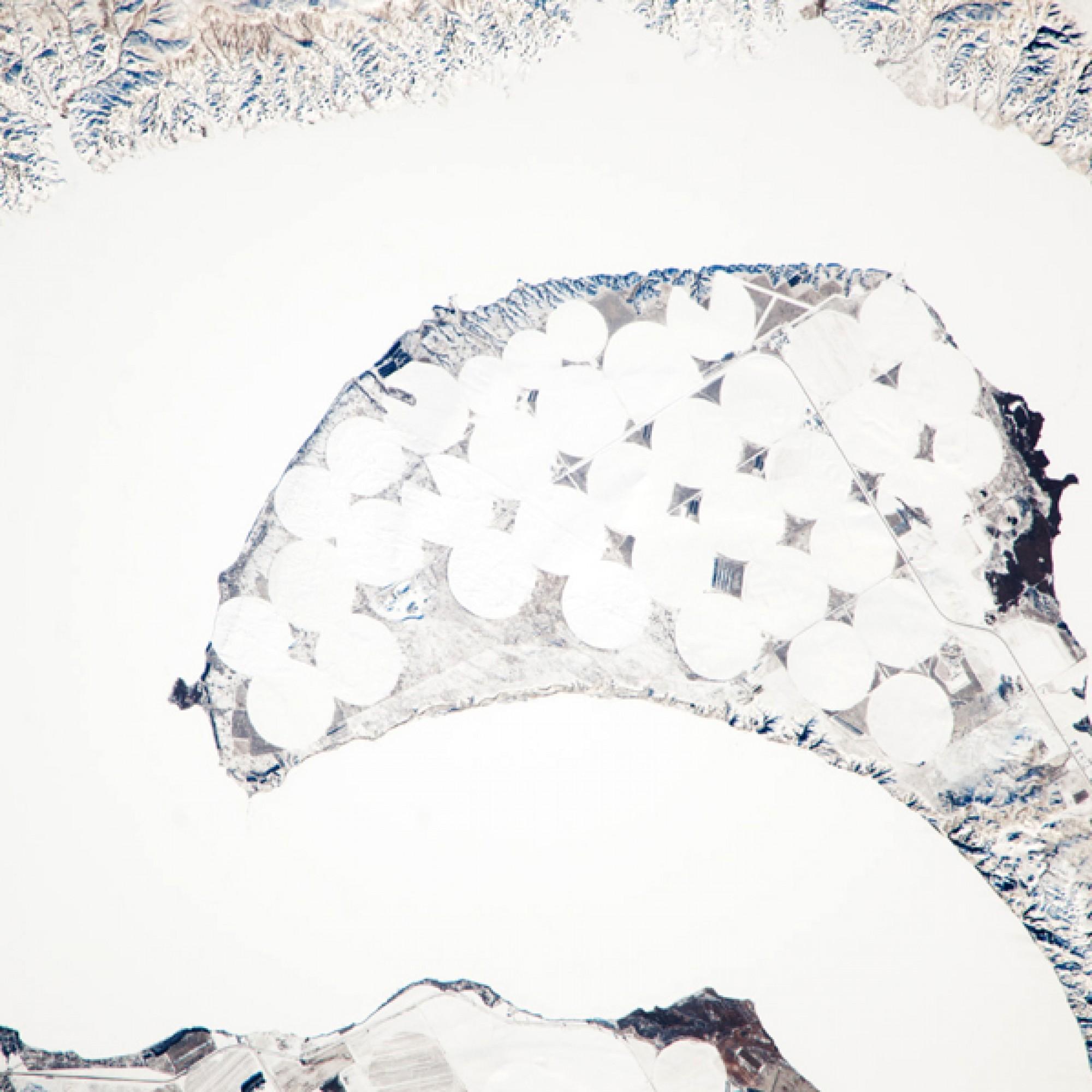 Gefrorener Lake Sharp in South Dakota (USA). (Nasa)