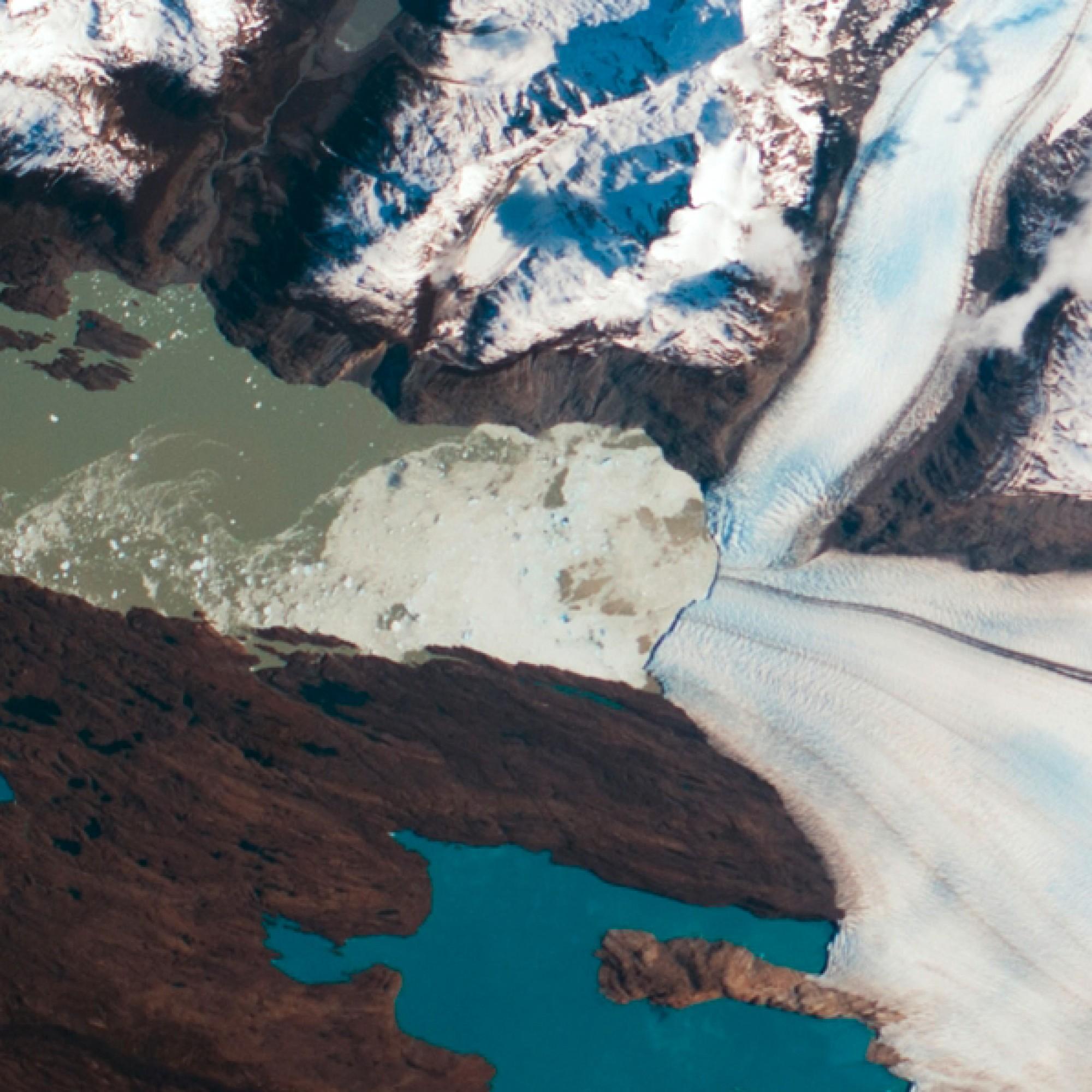 Upsala-Gletscher im Norden Patagniens. (Nasa)