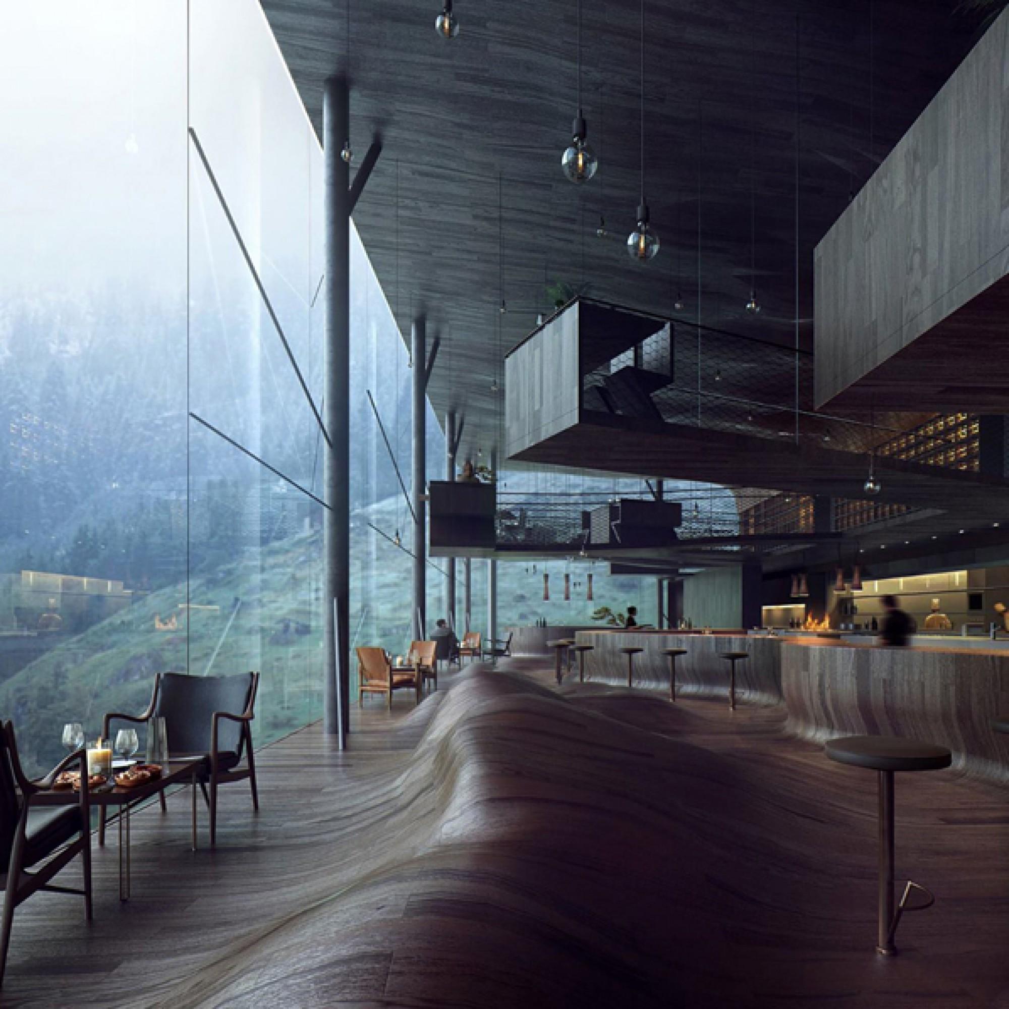 Die Lobby.  (Visualisierungen MIR. Creative Studio)
