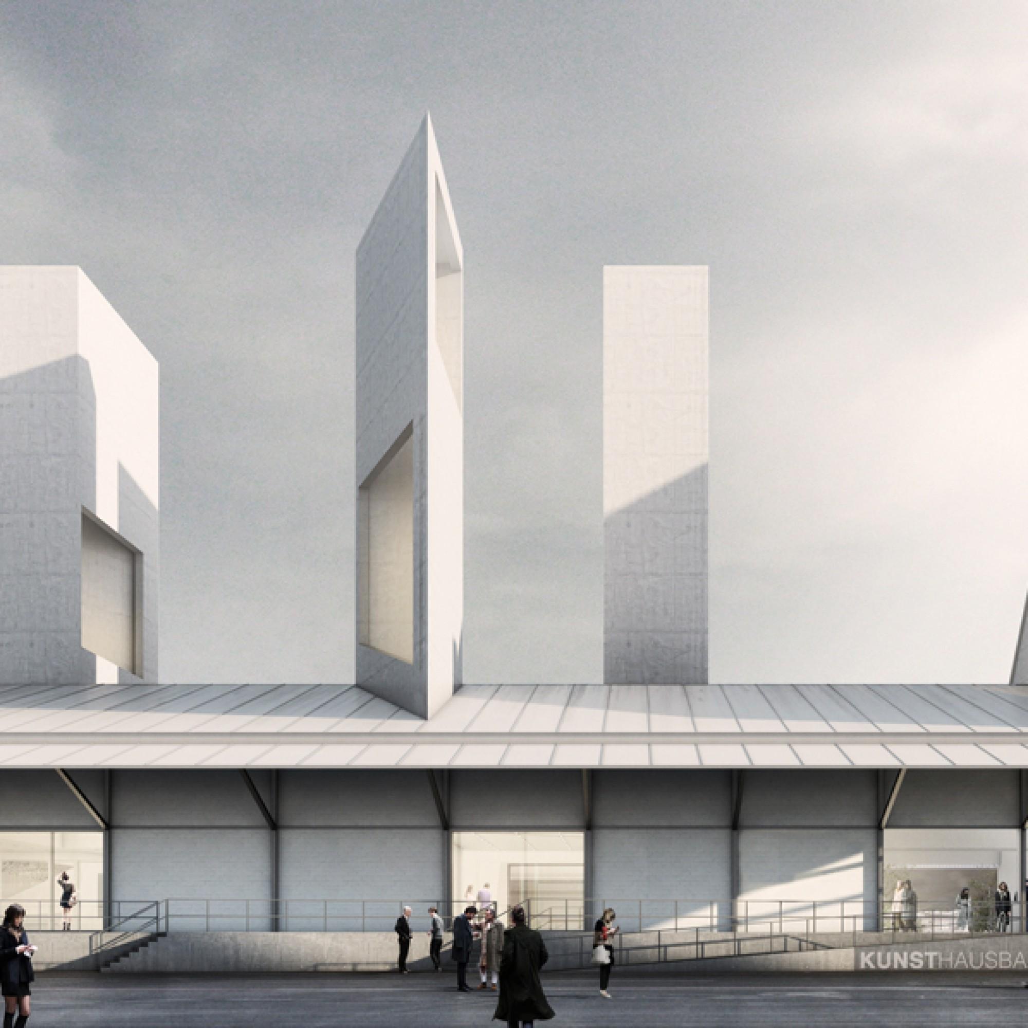 Drei markante Türme bilden das Wahrzeichen der neuen Ausstellungstätte. (Buchner Bründler Architekten / zvg)