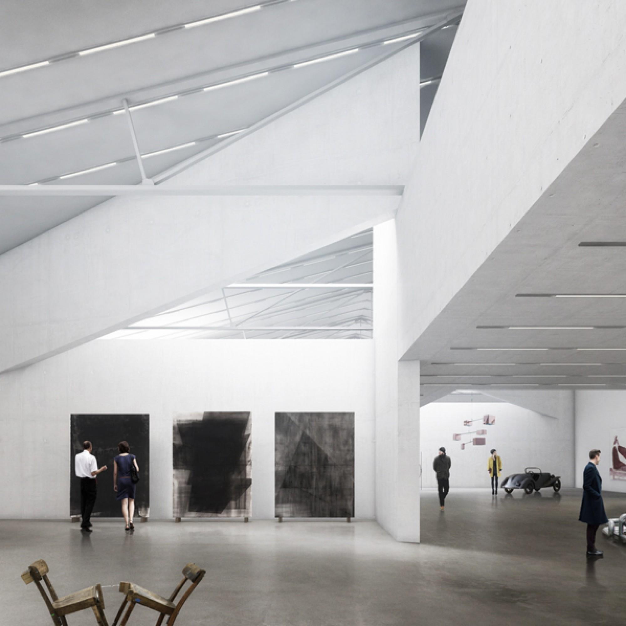 In den lichten Räumen soll zeitgenössische bildende  Kunst...   (Buchner Bründler Architekten / zvg)