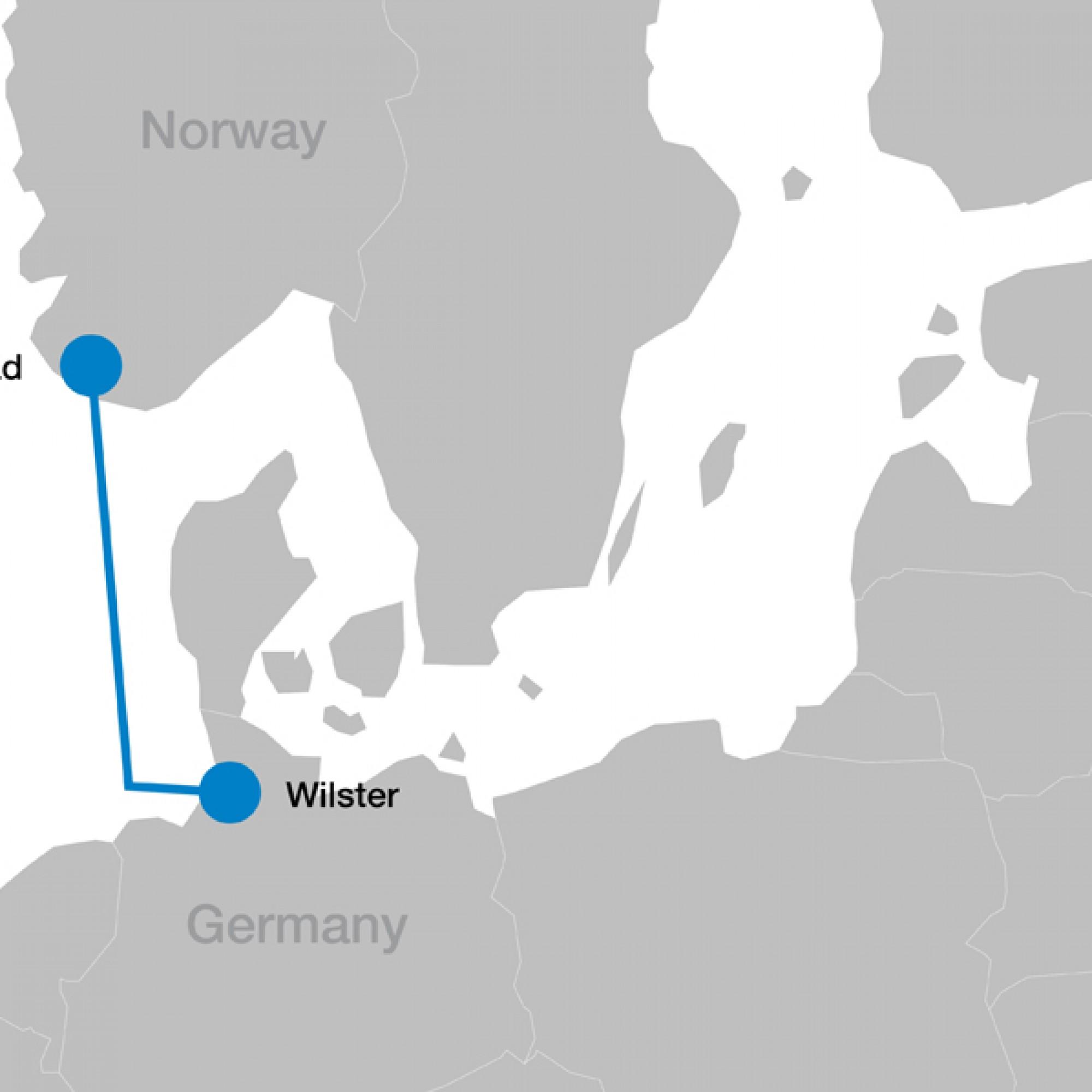 Die Leitung verbindet Wilster in Schleswig Holstein mit dem südnorwegischen Tonstad. (PD)