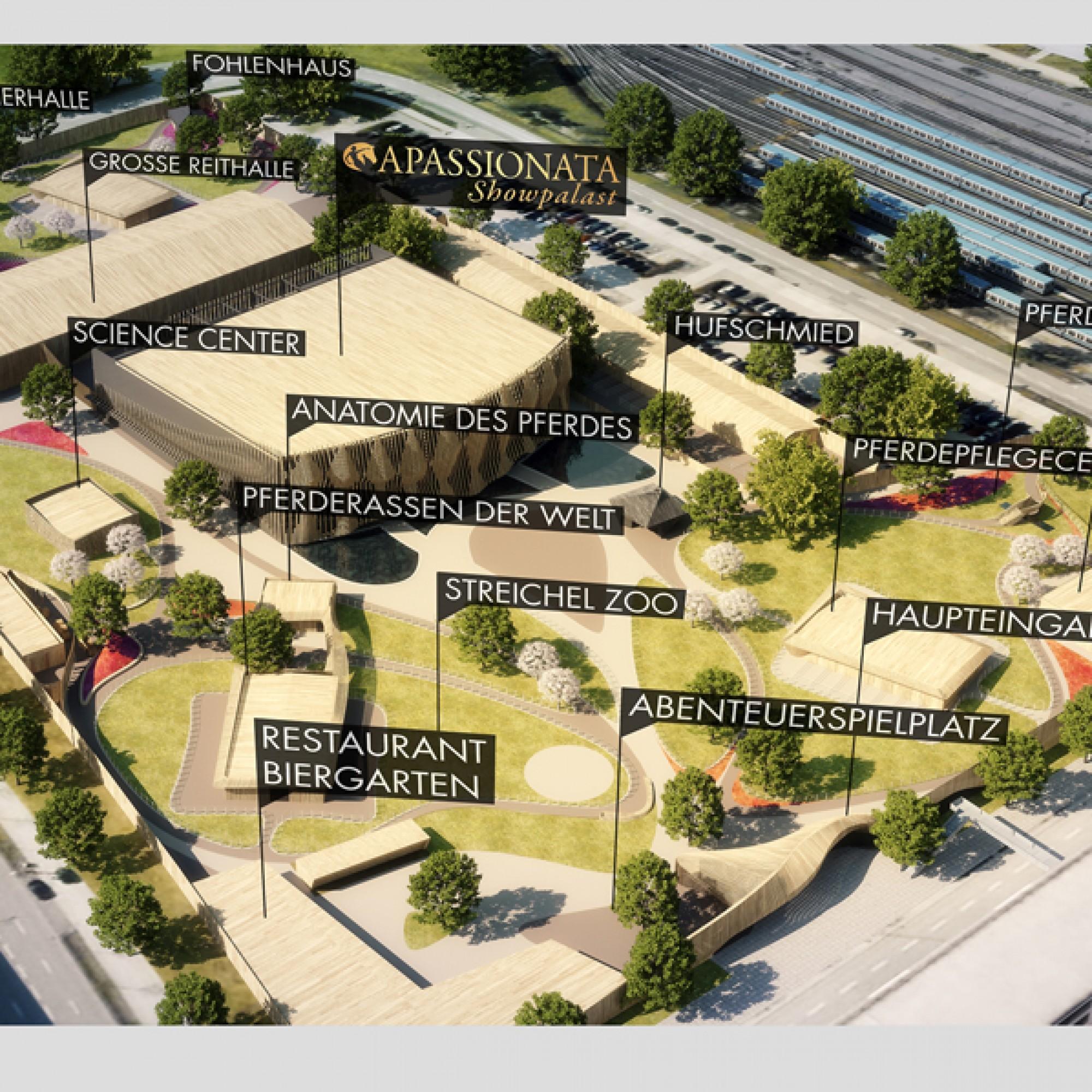 Zur Anlage gehören zwölf Pavillons... (PD)