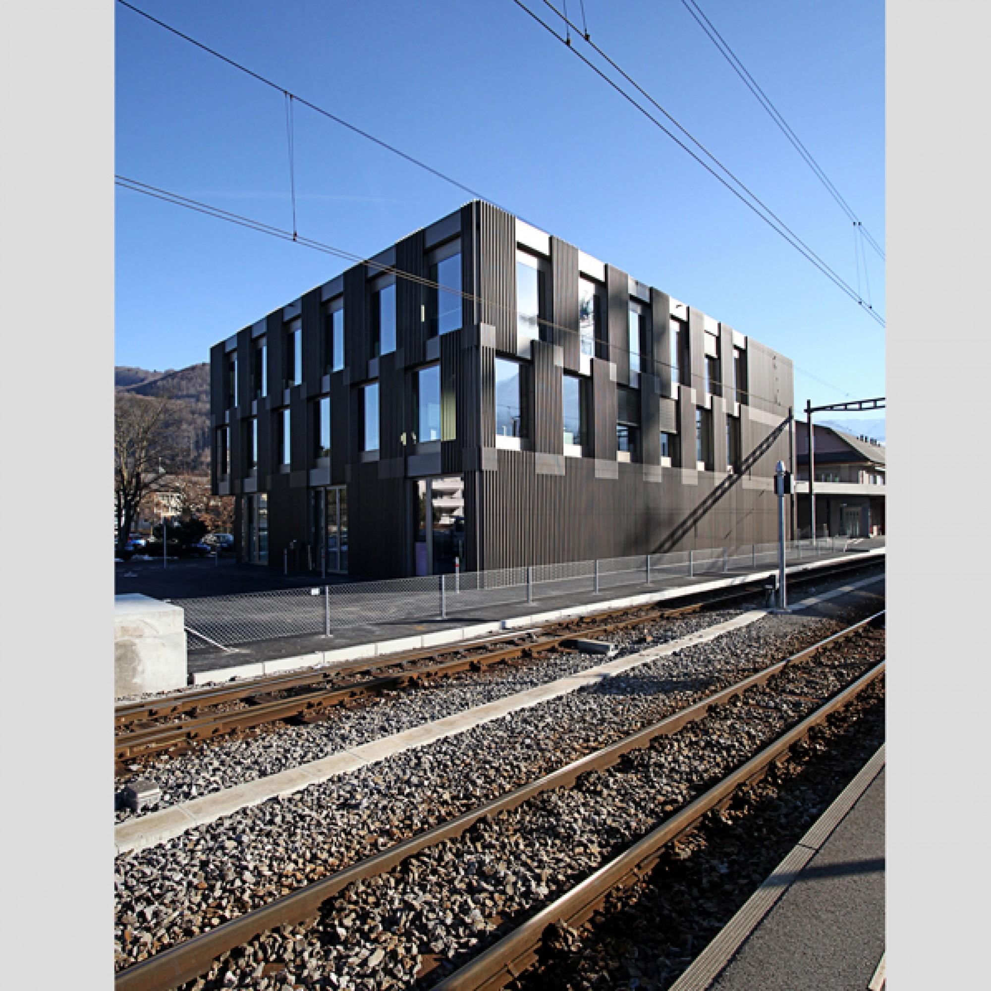 Geschäftshaus zb, Stansstad; Architekten: unit Architekten, Hergiswil. (zvg)