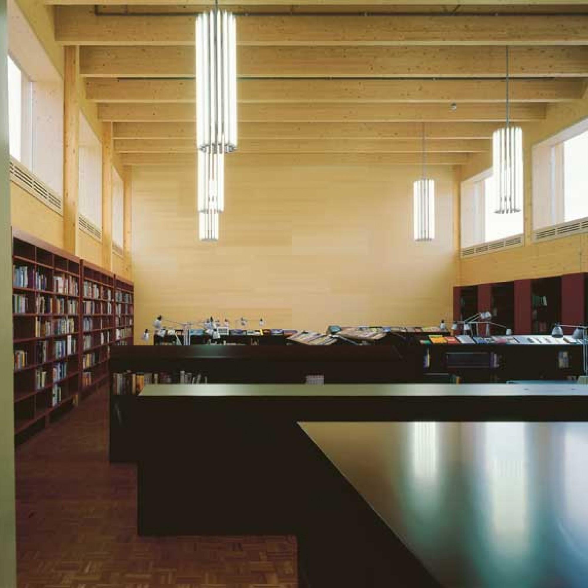 Bibliothek in der Kantonschule Wil, Baujahr 2004. (Heinrich Helfenstein / zvg BAK)