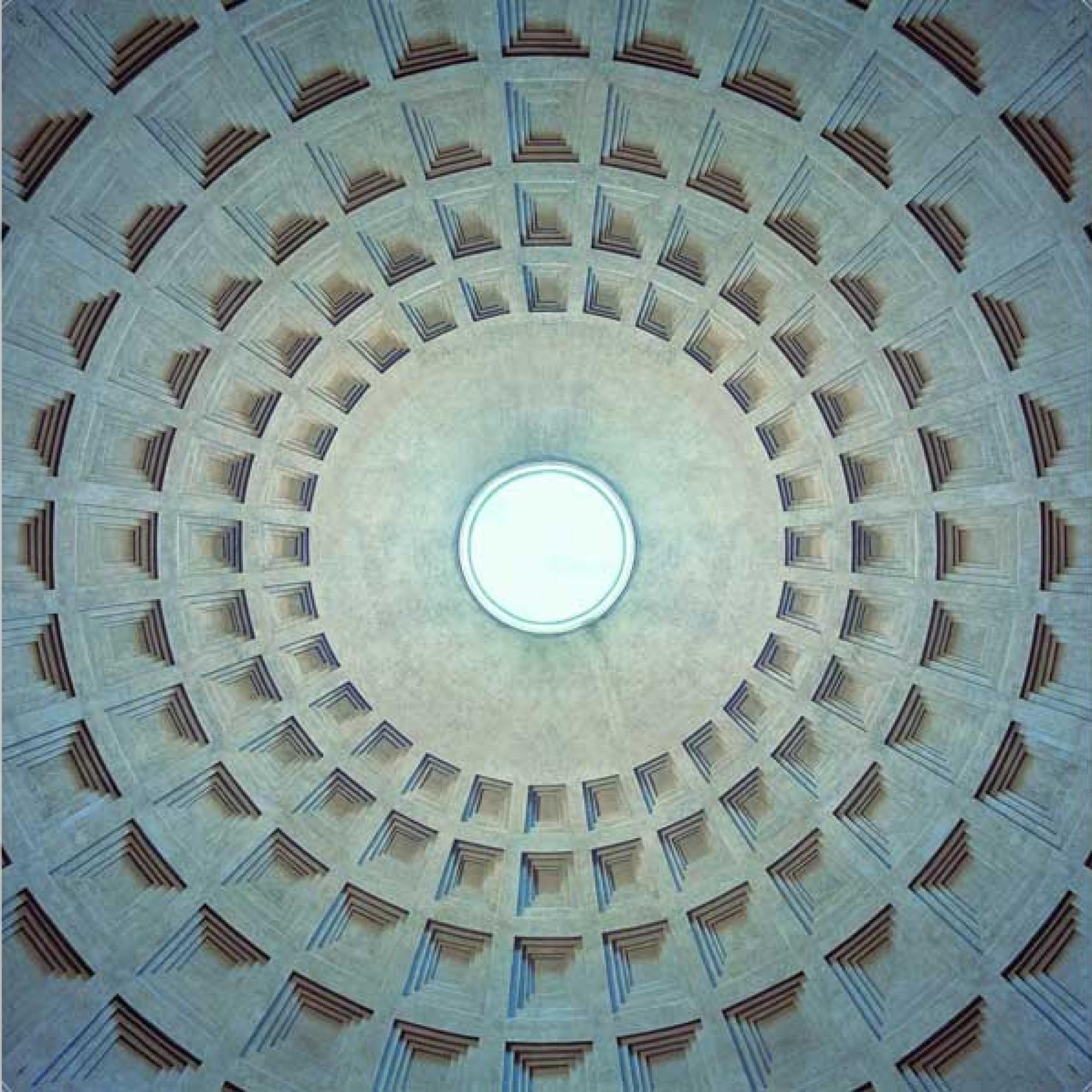 Die Kuppel des Pantheons wirkt von Jakob Straub fotografiert zweidimensional. (Jakob Straub / Hatje Cantz-Verlag, PD)