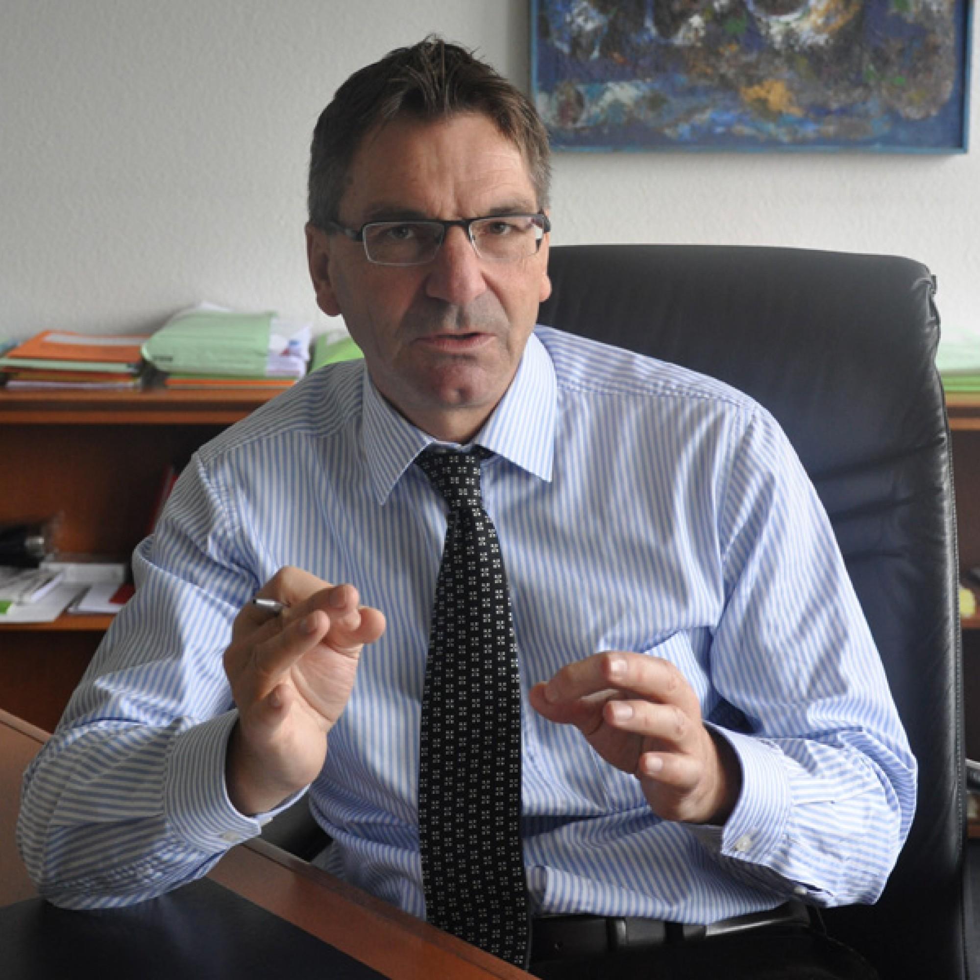 Martin A. Senn, Vizedirektor des Schweizerischen Baumeisterverbands, im Gespräch mit bauwelt.ch. (SBV)