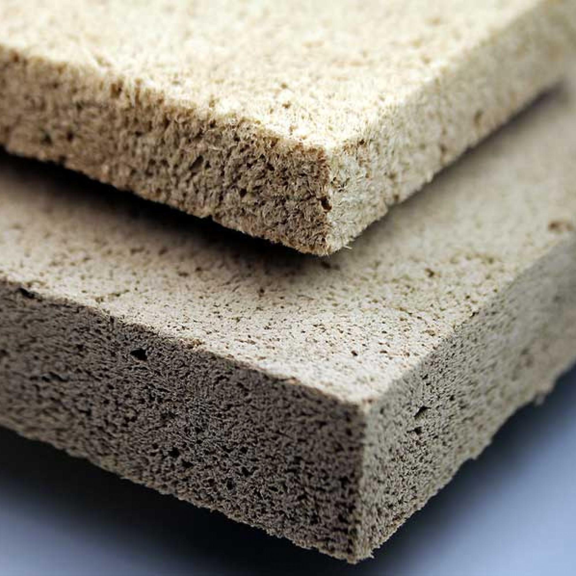 So sehen die Schaumstoffplatten aus Holz aus. (Manuela Lingnau, Fraunhofer WKI)
