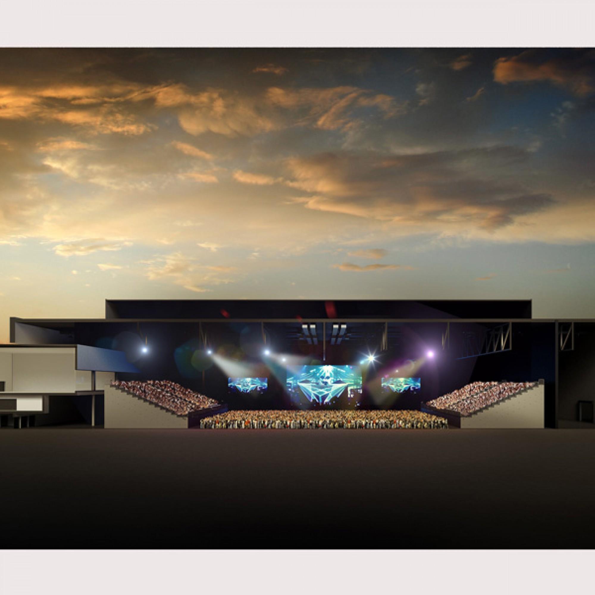 So könnte das neue BElive Center künftig aussehen. (Bernexpo AG)
