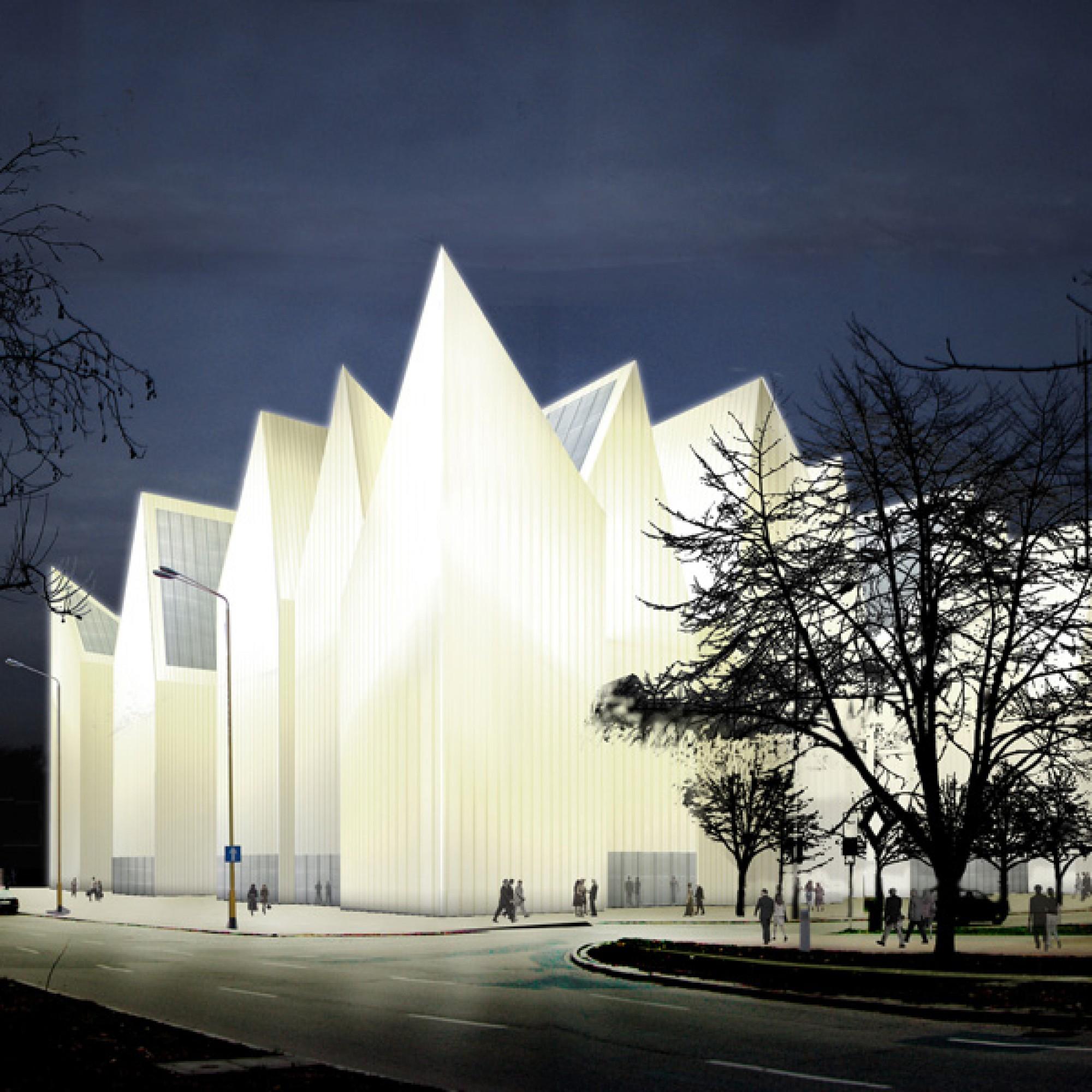 Die Philharmonie Szczecin, Visualisierung (wikimedia.org, UMSzczecin, CC)