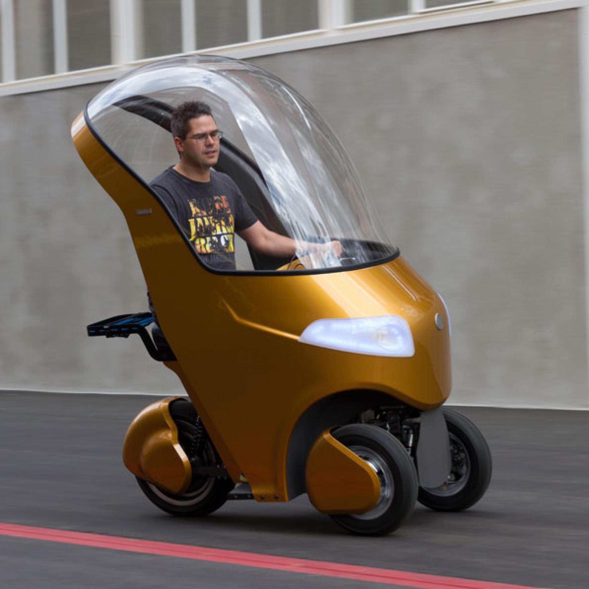 Erinnert an ein skurriles Spielzeuggefährt: der Prototyp des Bicar. (PD)