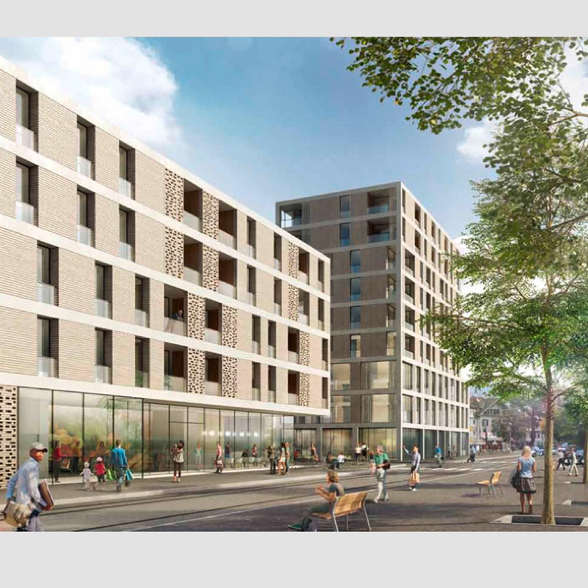 Die Meinen-Überbauung kommt auf dem Areal der gleichnamigen Grossmetzgerei in Berns Mattenquartier zu stehen. 8zvg)