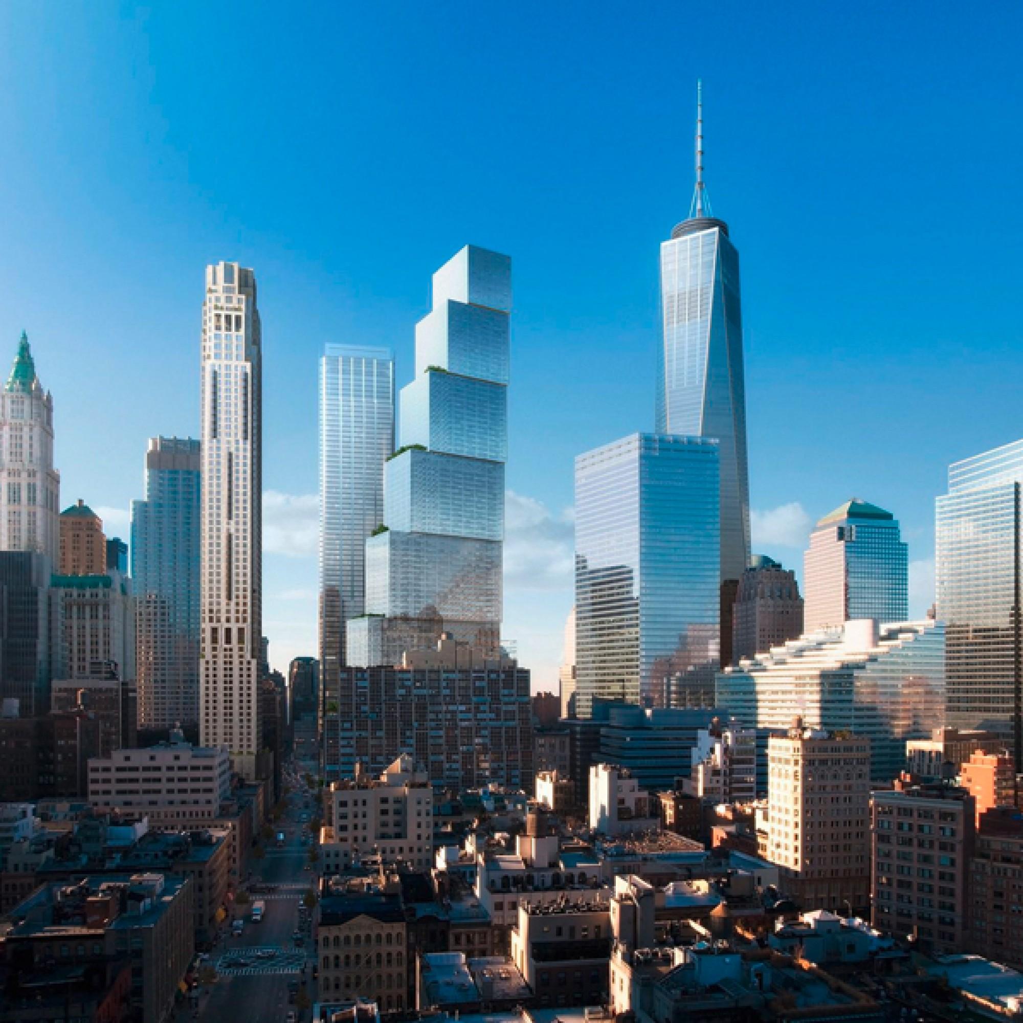 New Yorks künftige Skyline wird geprägt von Bjarke Ingels mit dem 2WTC. (zvg)