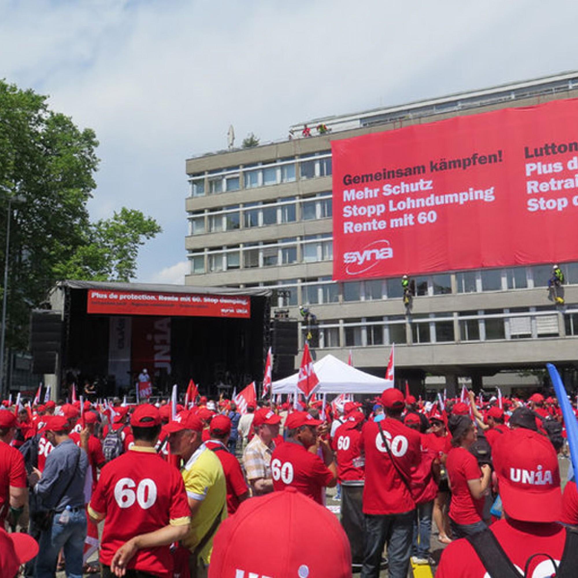 Schlusskundgebung auf dem Helvetiaplatz (zvg)