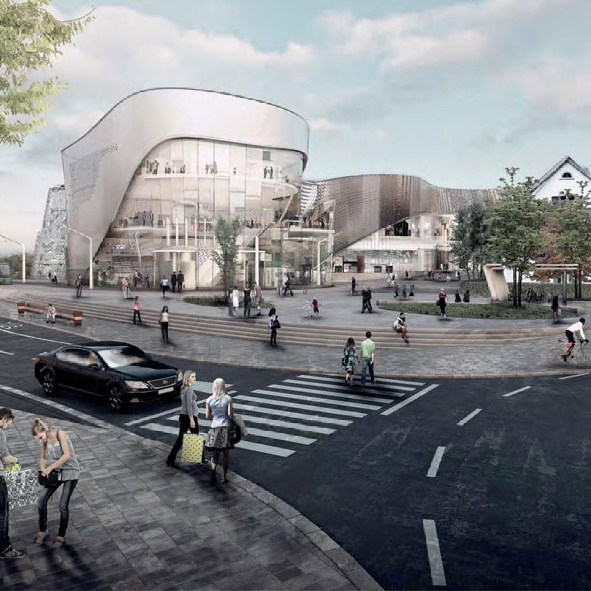 Visualisierung des geplanten Einkaufscenters «Dreiländergalerie» in Weil am Rhein (zvg, Cemagg GmbH)