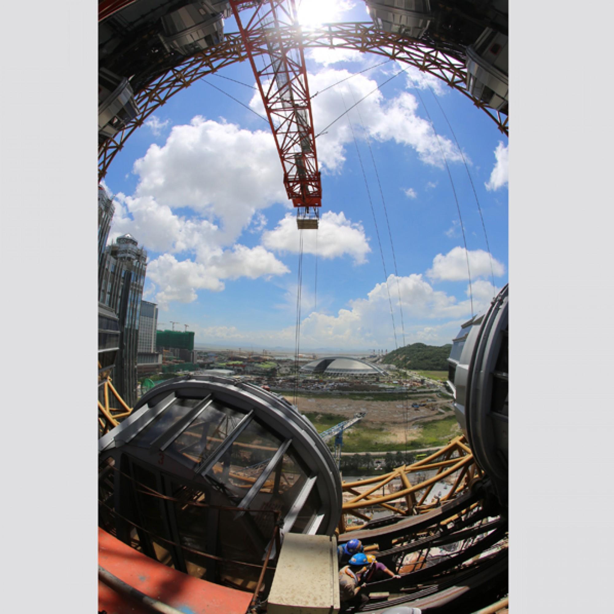 Zurzeit wird die Technik der spektakulären Anlage überprüft und getestet. (zvg)