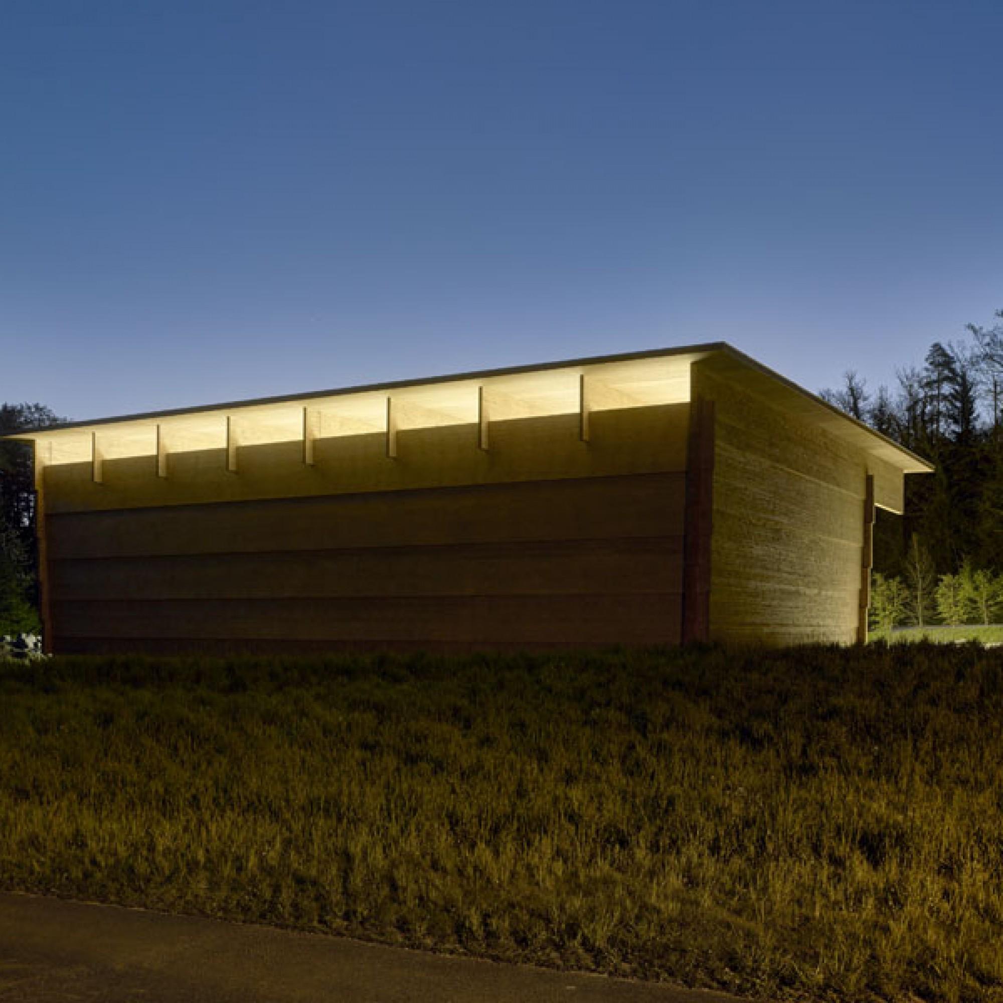 Das Gebäude wurde vom Architekturbüro Rossetti + Wyss geplant (Rossetti + Wyss/Jürg Zimmermann)