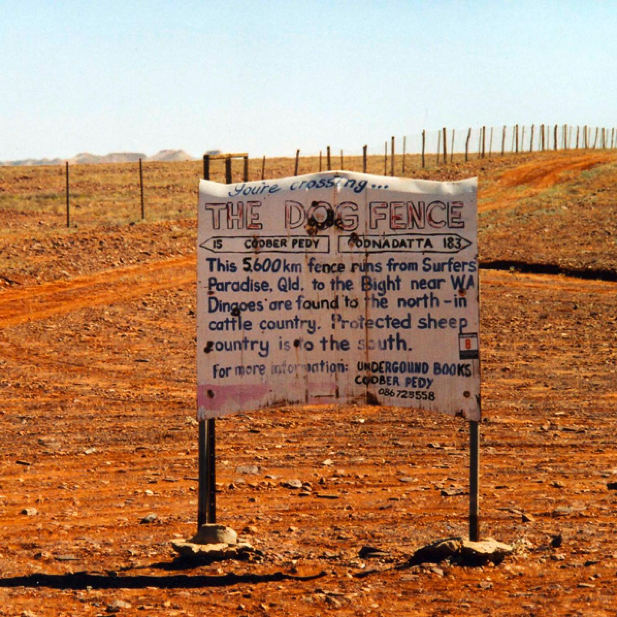 Die Dingo Fence gilt als längster Zaun der Welt. (Schutz, CC BY-SA 3.0, Wikimedia)