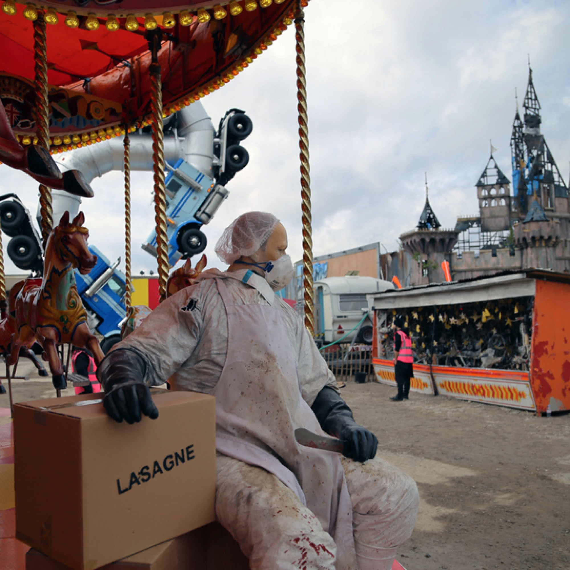 ...und ein Rössli-Karuselll mit einem Metzger und möglicherweise Pferdefleischlasagne. (byrian, flickr, CC)