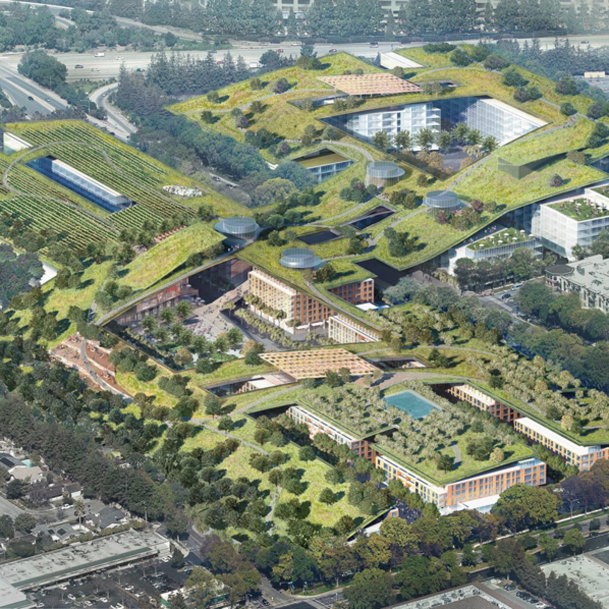 Wie ein Teppich legt sich der Park über die einzelnen Bauten. (zvg)