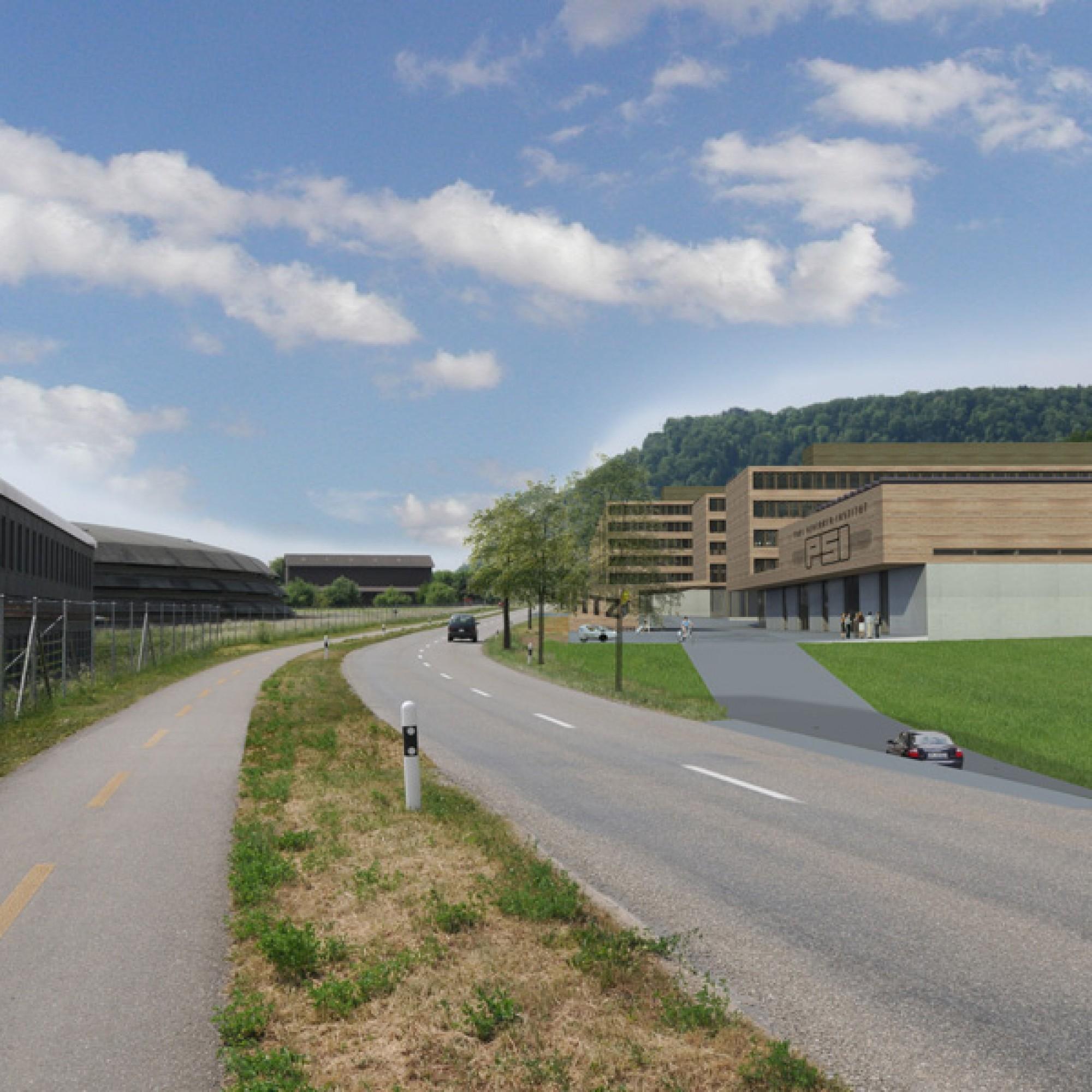 Soll soll der Aargauer Innovationspark dereinst aussehen. (Visualisierungen zvg)