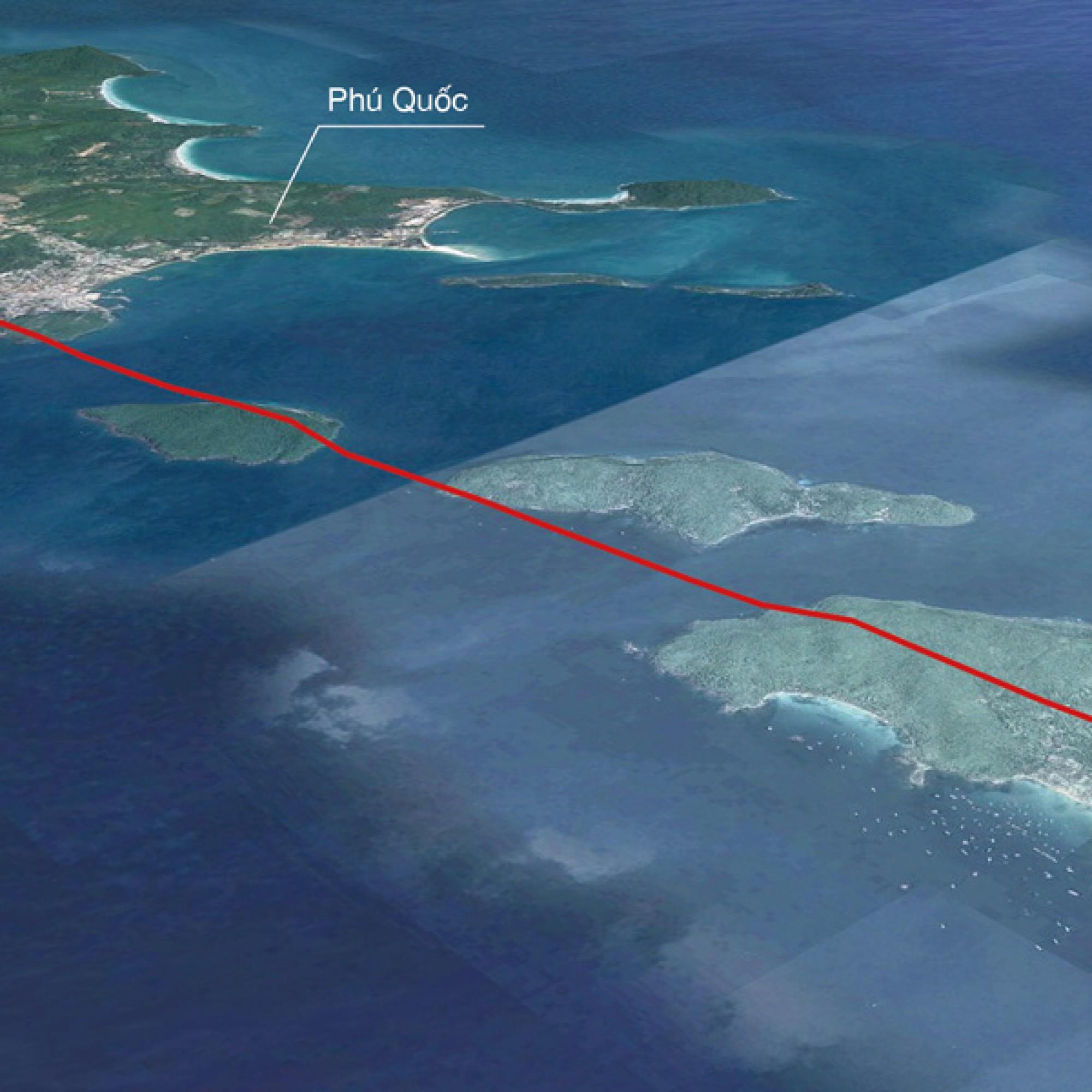 Die Seilbahn wird die Inseln Phú Quốc und Hòn Thơm verbinden. (Visualisierung Doppelmayr)