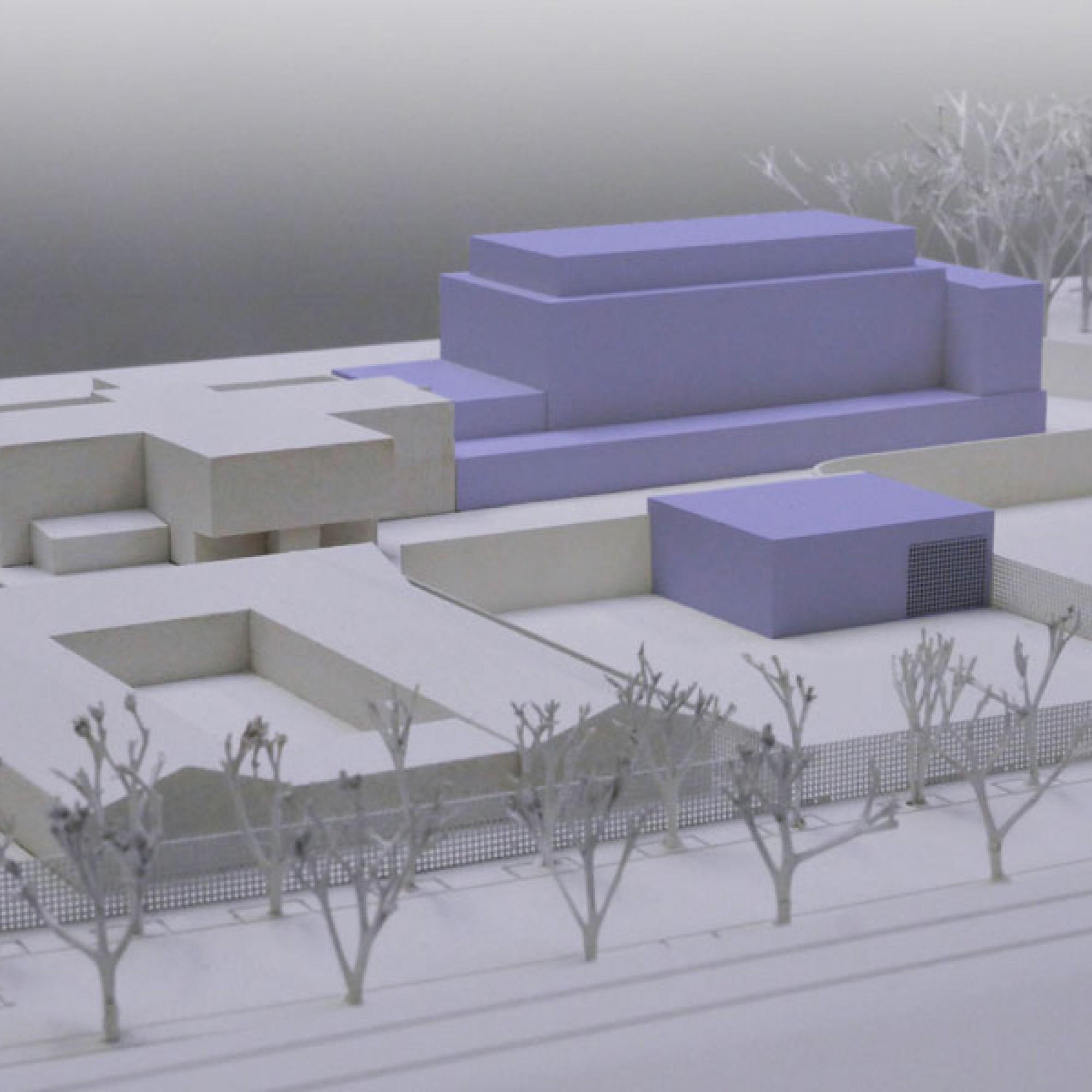 Basel plant einen Anbau an das Gefängnis Bässlergut bei der Grenze Otterbach (Modellbild JSD BS)