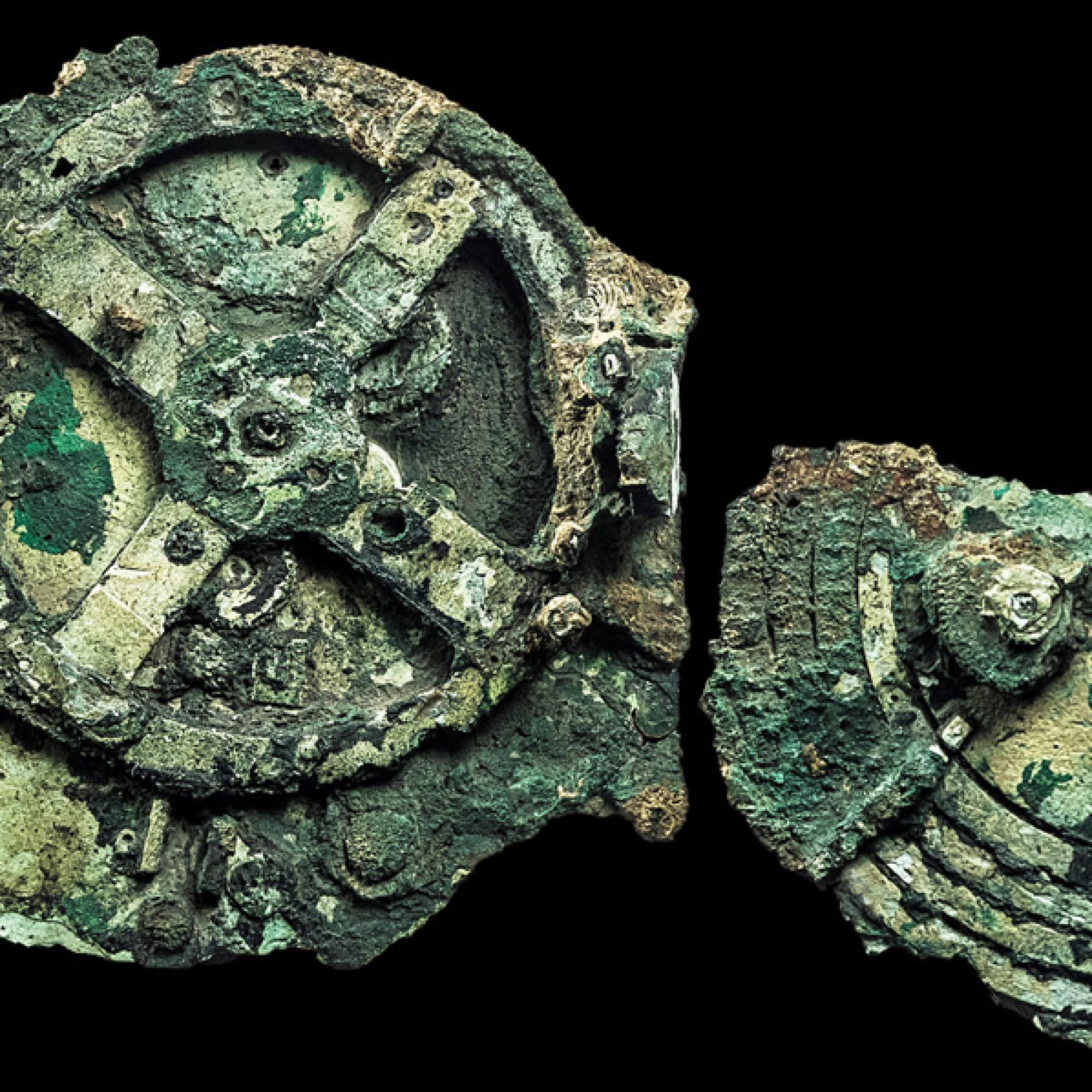 Die Überreste des sogenannten Mechanismus von Antikythera. In Basel sind nur Nachbauten und eine Replik zu sehen, weil der Transport des Originals zu riskant ist. (K. Xenikakis, Nationales Archäologie-Museum Athen)