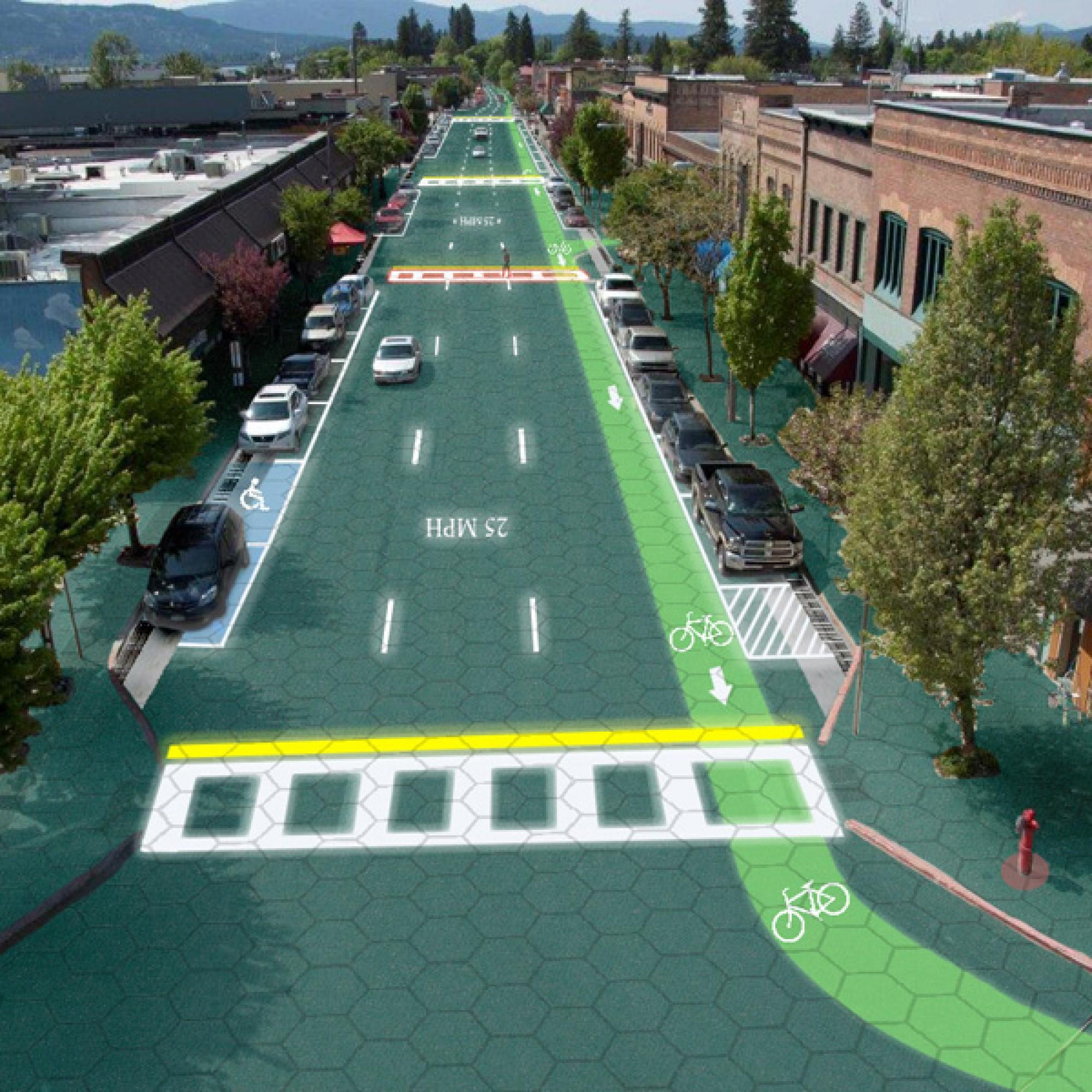 So könnte die Innenstadt von Sandpoint künftig aussehen.